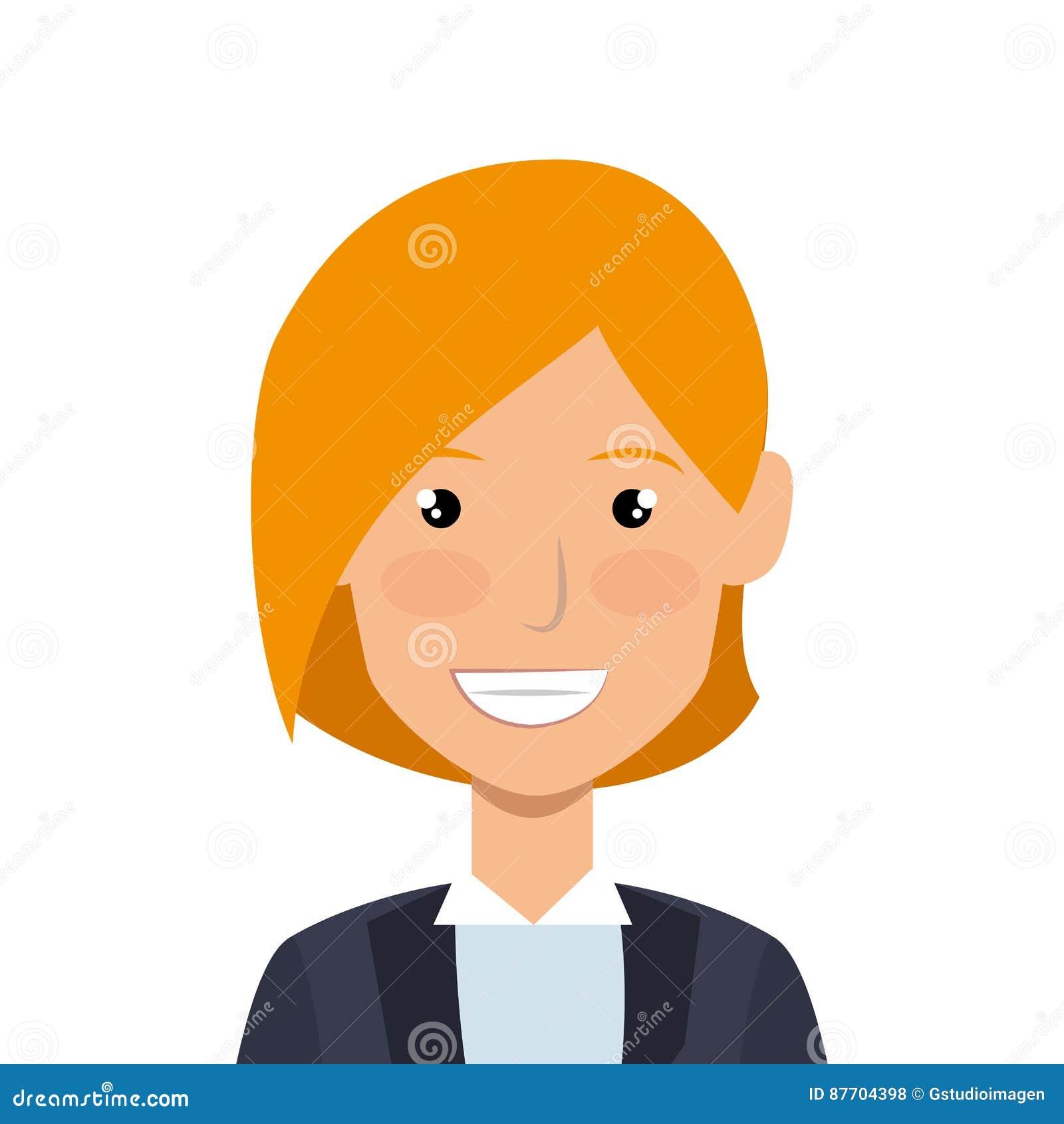 Icône d avatar de caractère de femme d affaires
