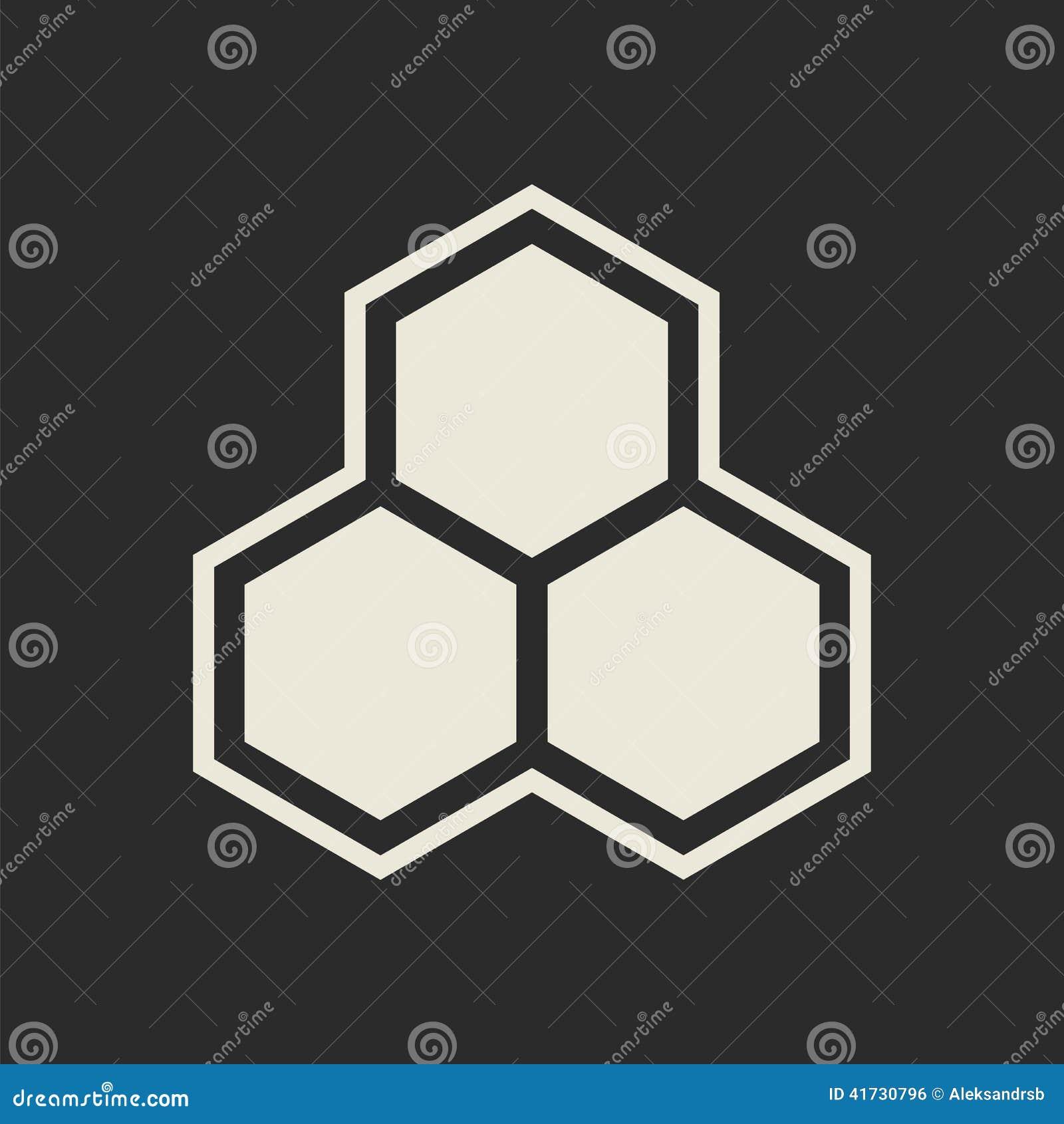 Ic ne d 39 hexagone nid d 39 abeilles illustration stock image for Carrelage nid d abeille