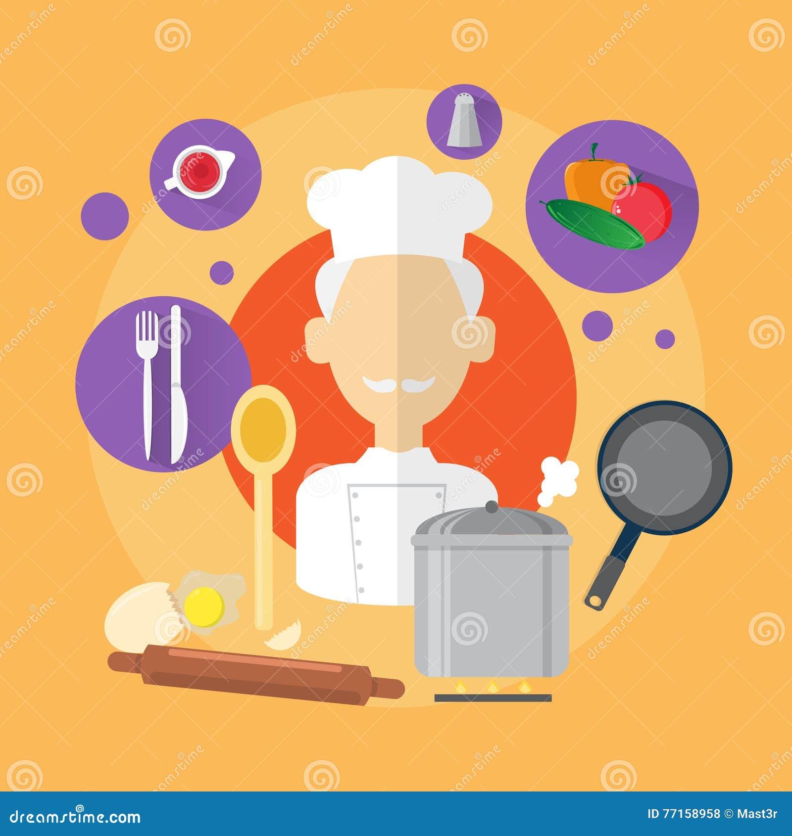 Icône d homme de Professional Cook Senior de chef
