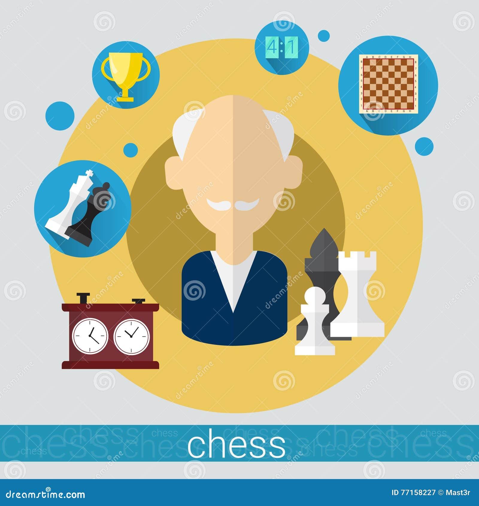 Icône d homme supérieur de joueur de jeu d échecs