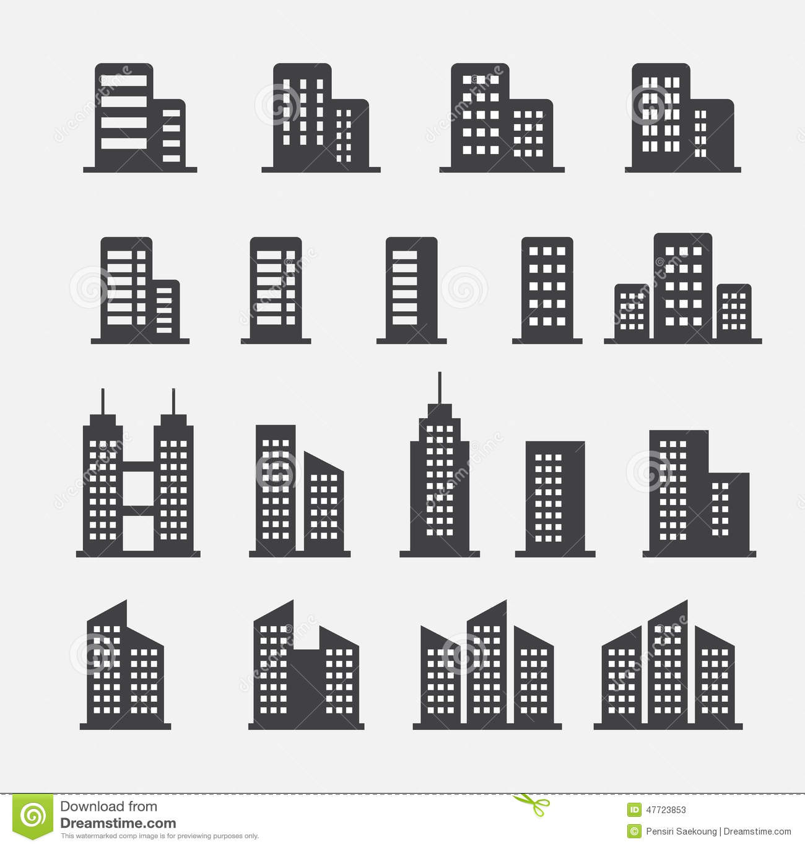 ic ne d 39 immeuble de bureaux illustration de vecteur image 47723853. Black Bedroom Furniture Sets. Home Design Ideas