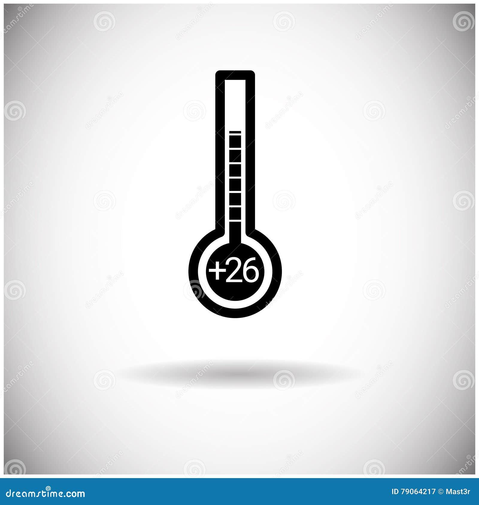 Icône d indicateur de la température de temps de thermomètre