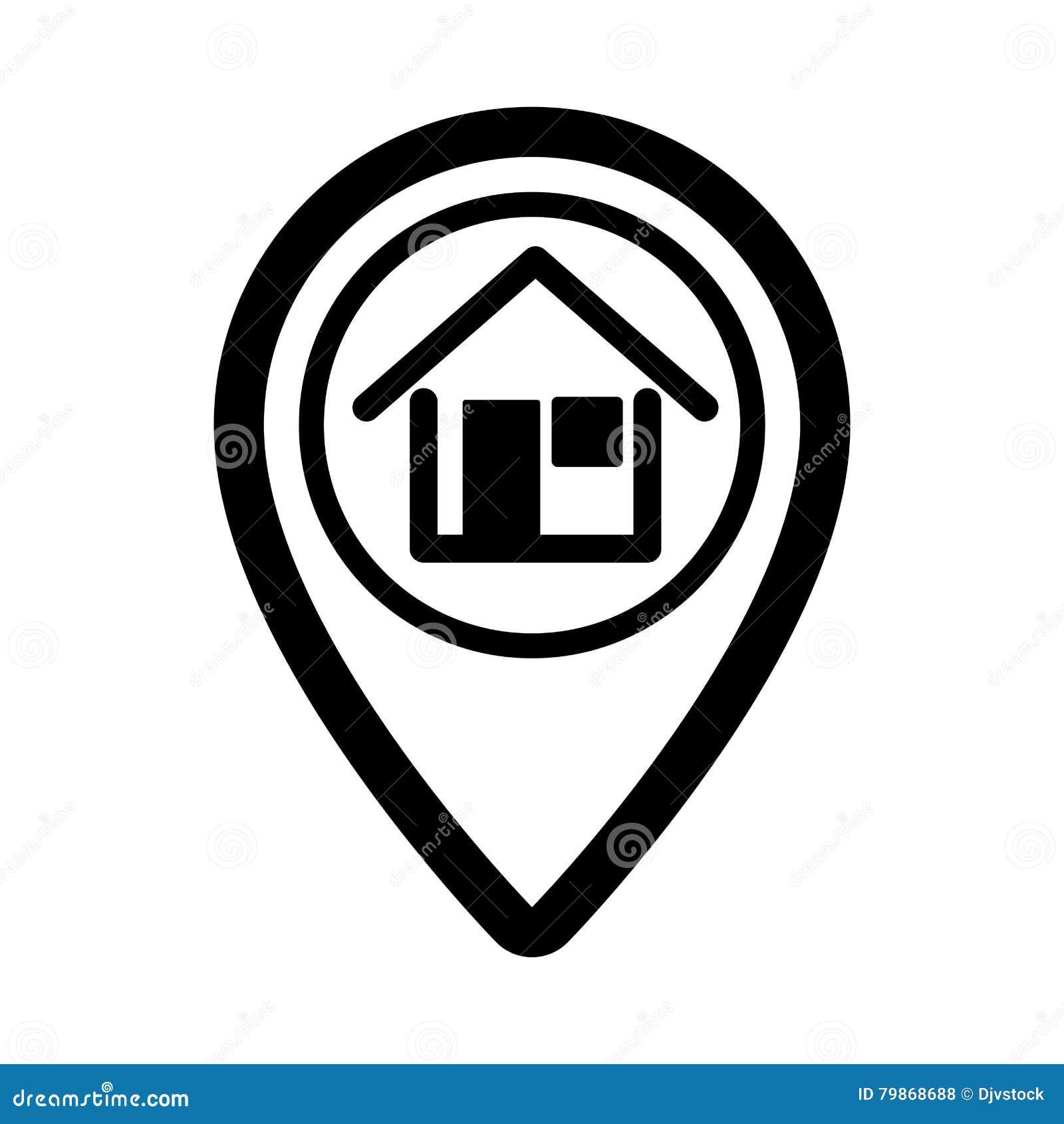 Icône d isolement d immobiliers de Pin