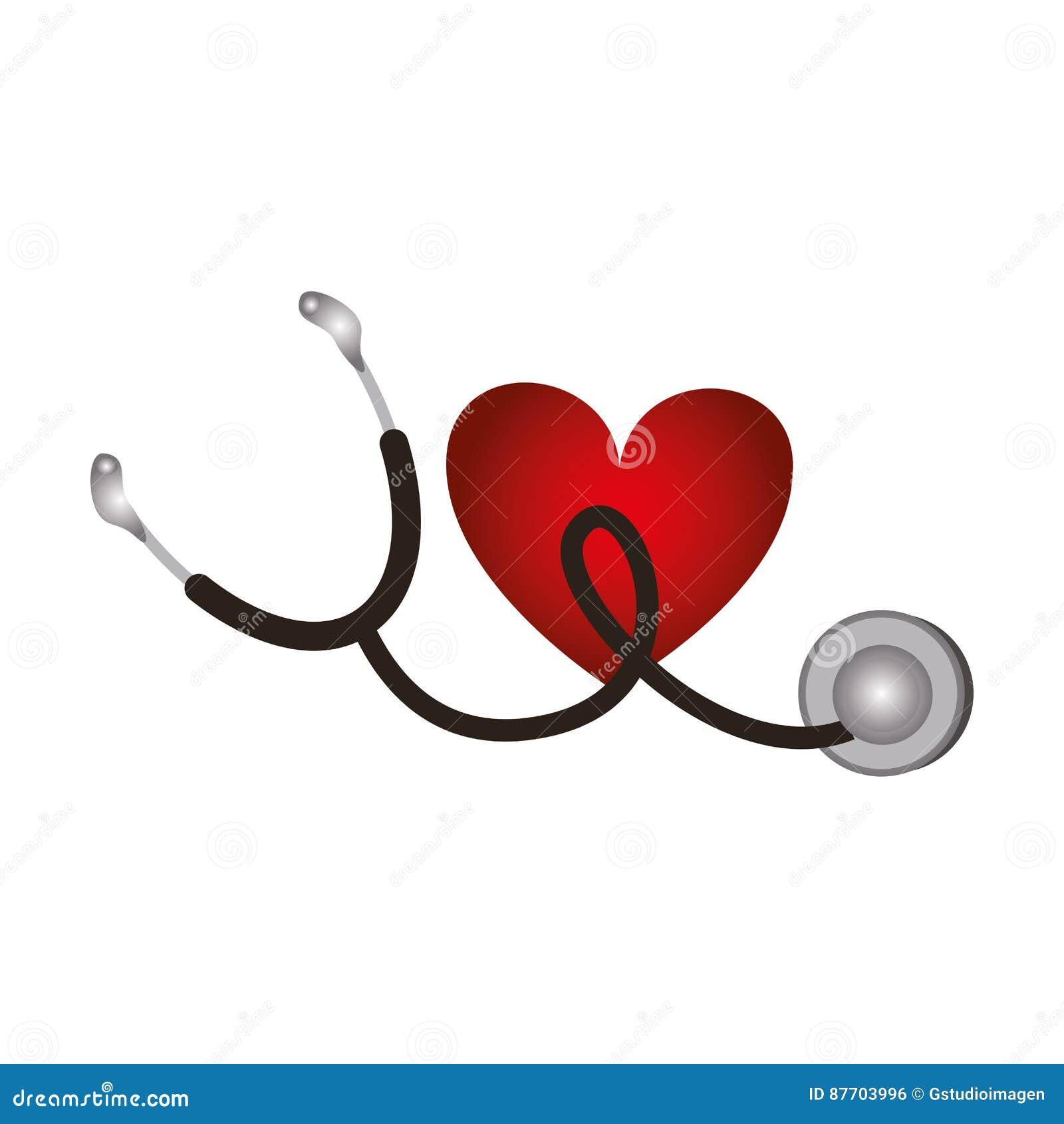 Icône d isolement médicale de stéthoscope