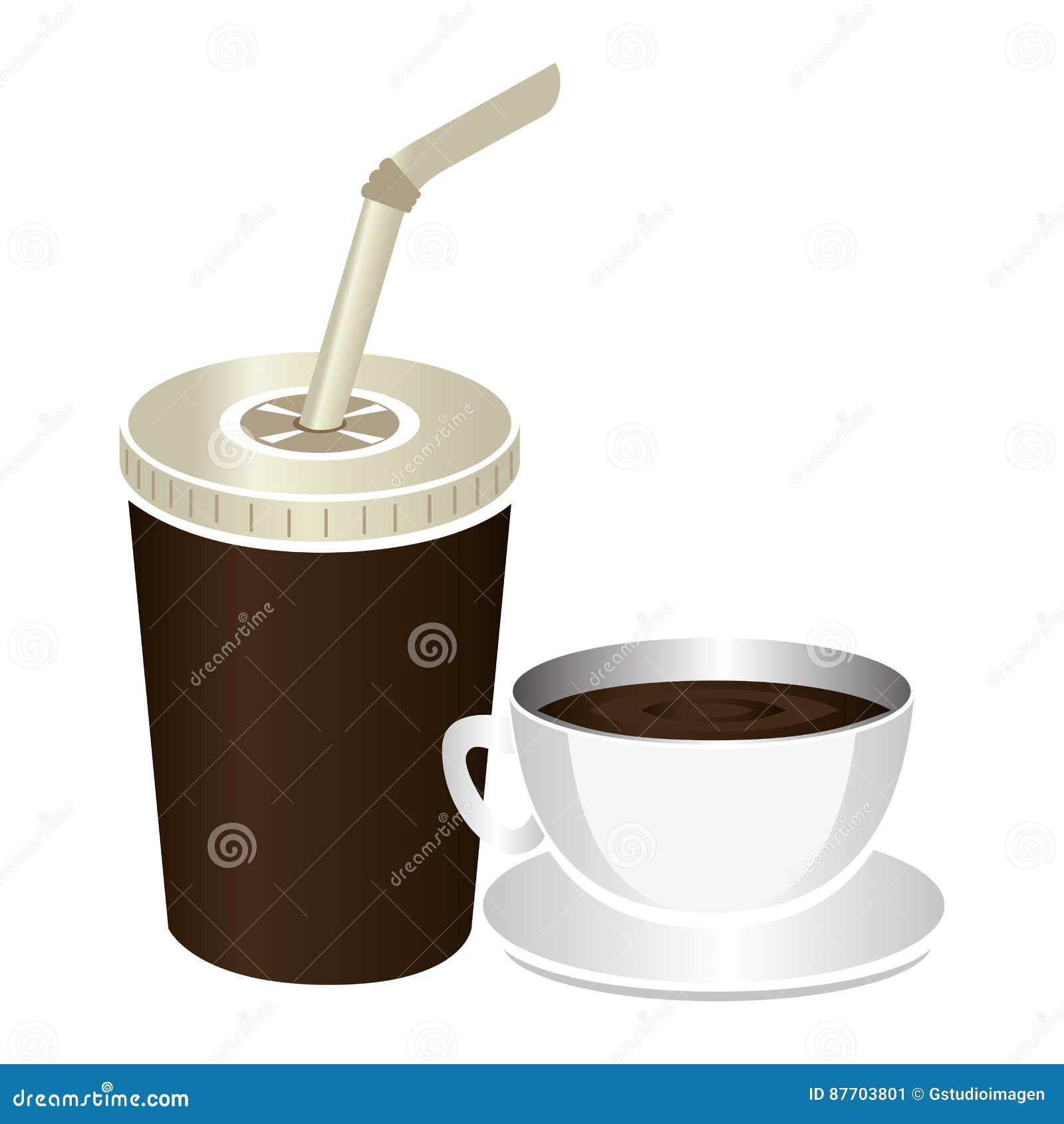 Icône d isolement par boisson de tasse de café