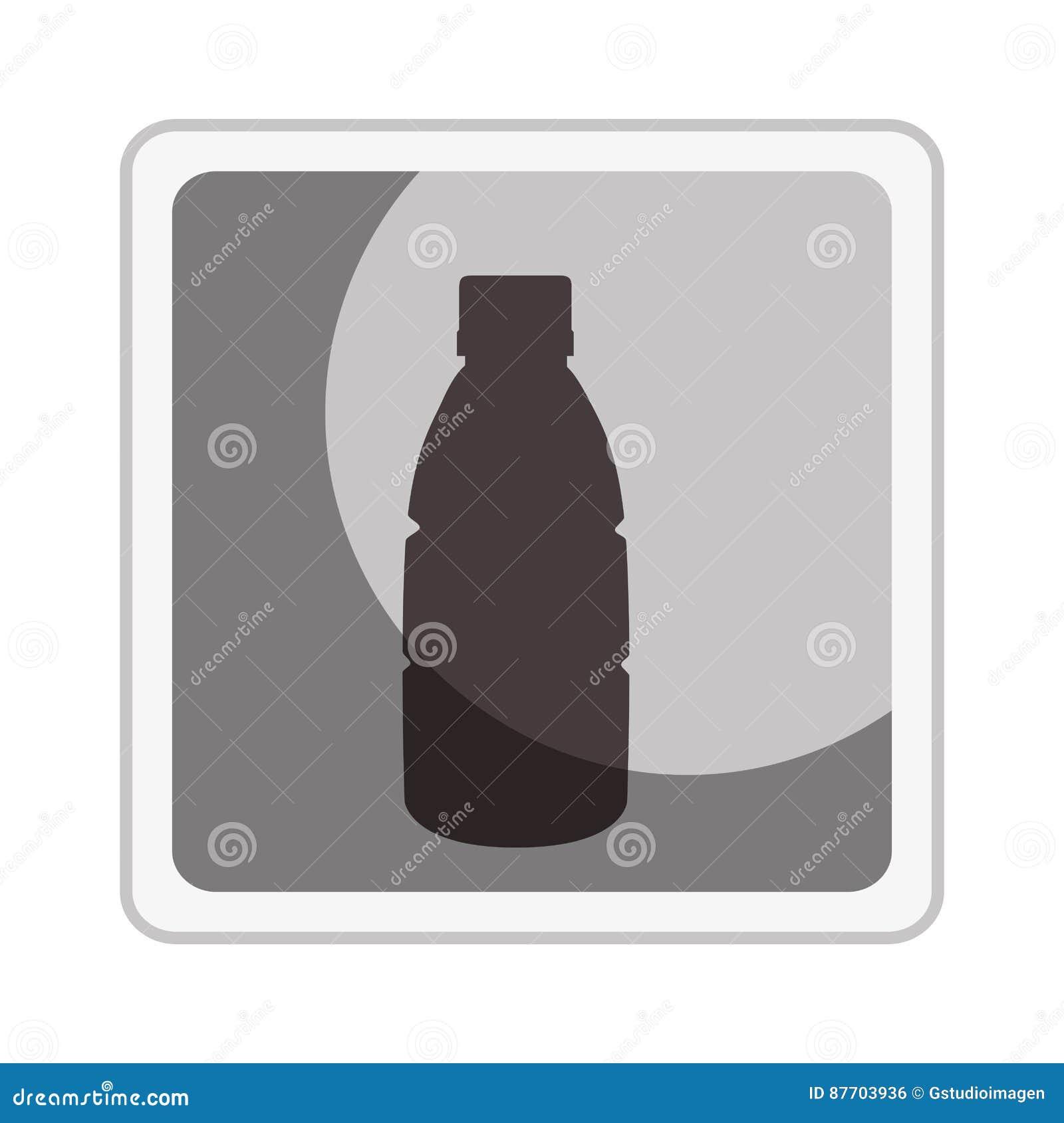 Icône d isolement par bouteille de boisson