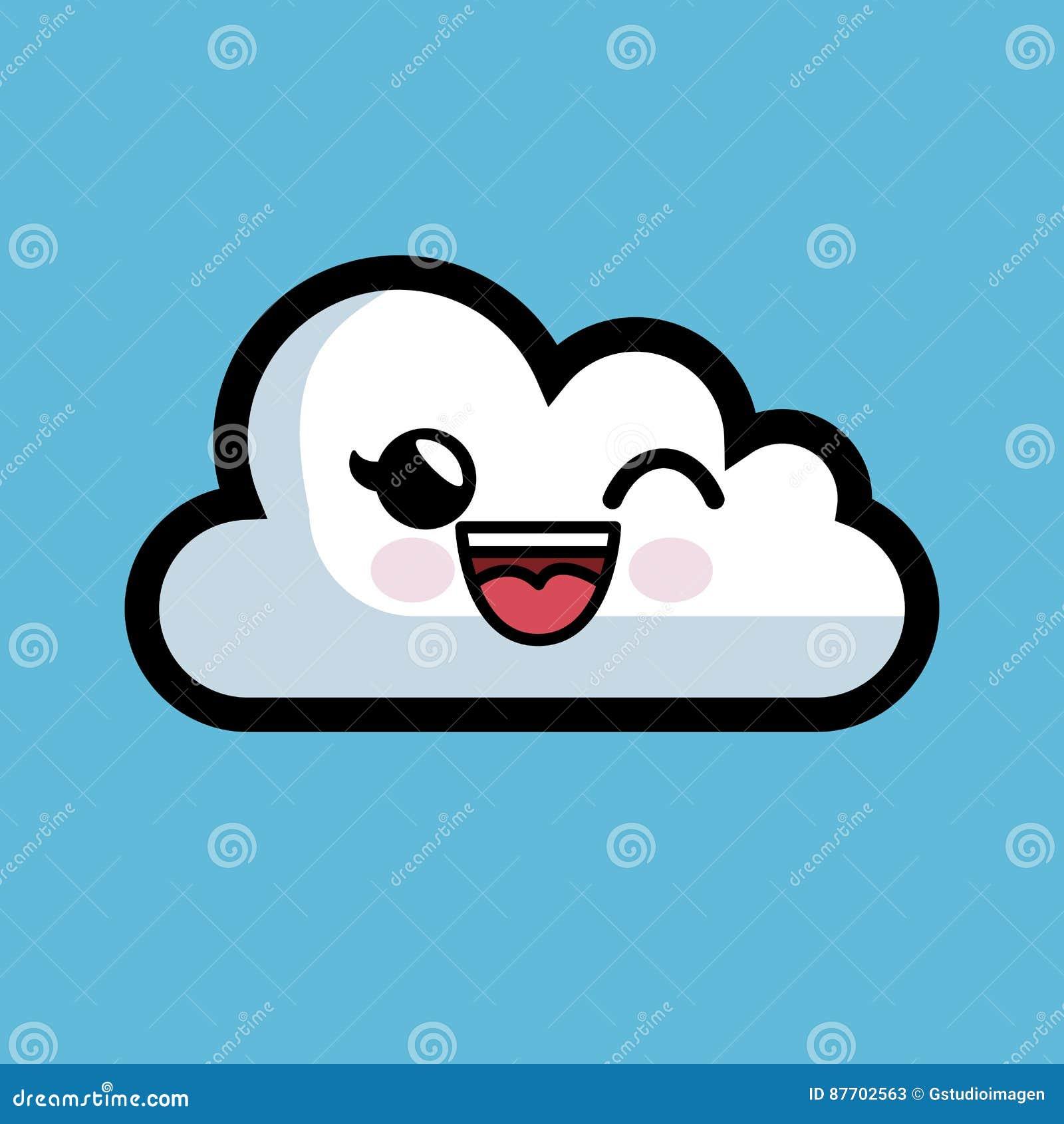 Icône d isolement par caractère de calcul de nuage