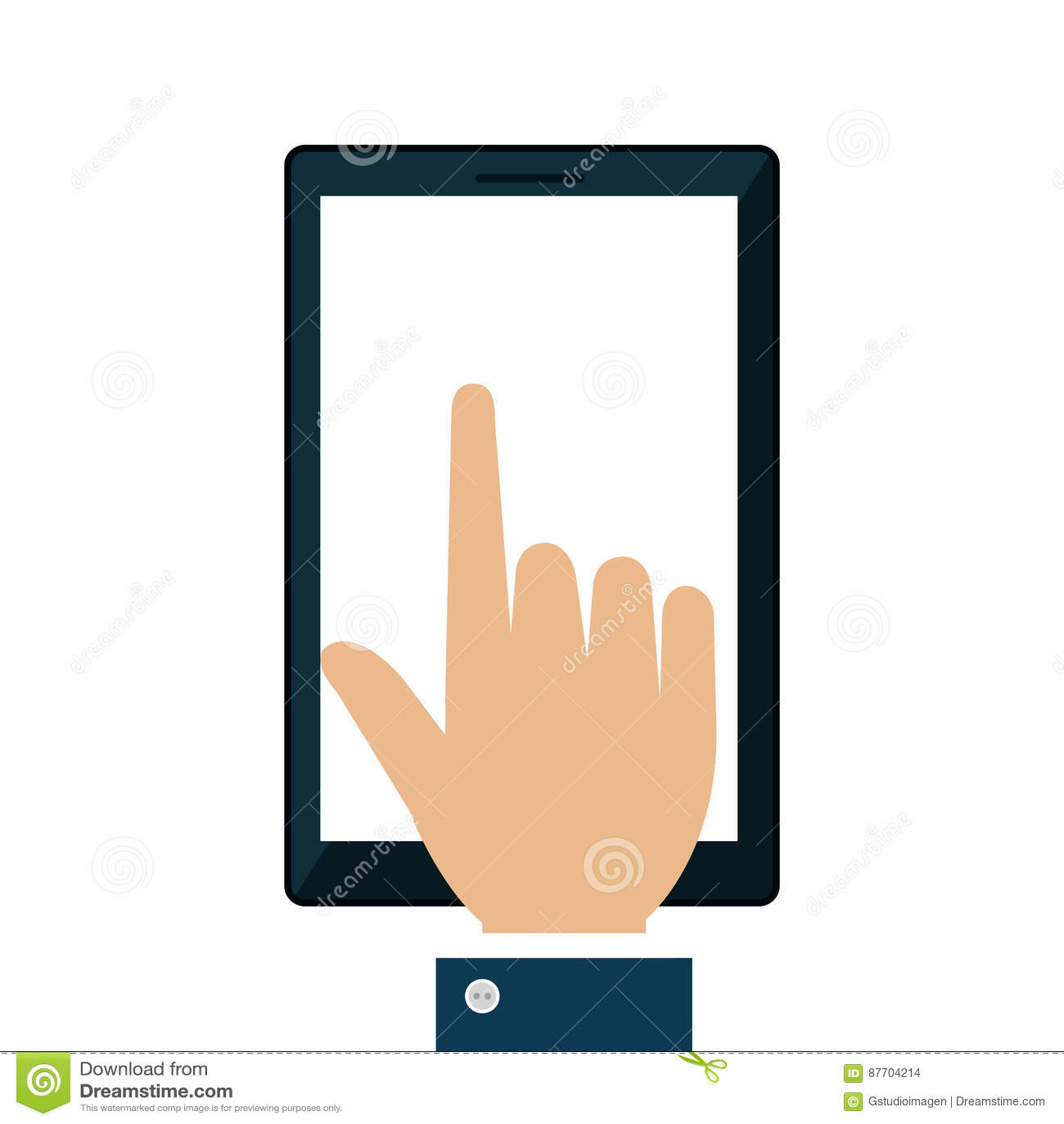Icône d isolement par dispositif de Smartphone
