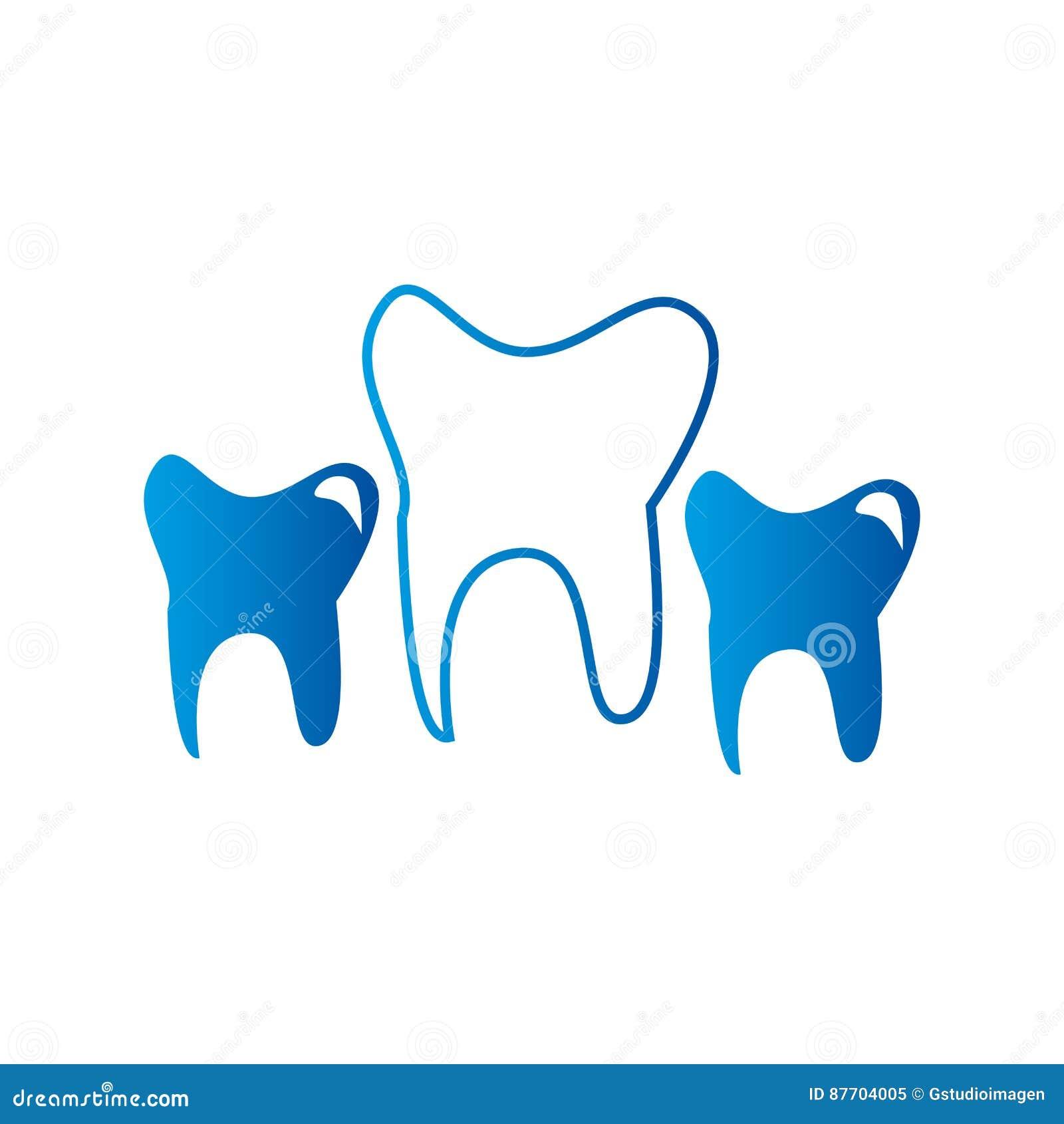 Icône d isolement par soins dentaires de dents