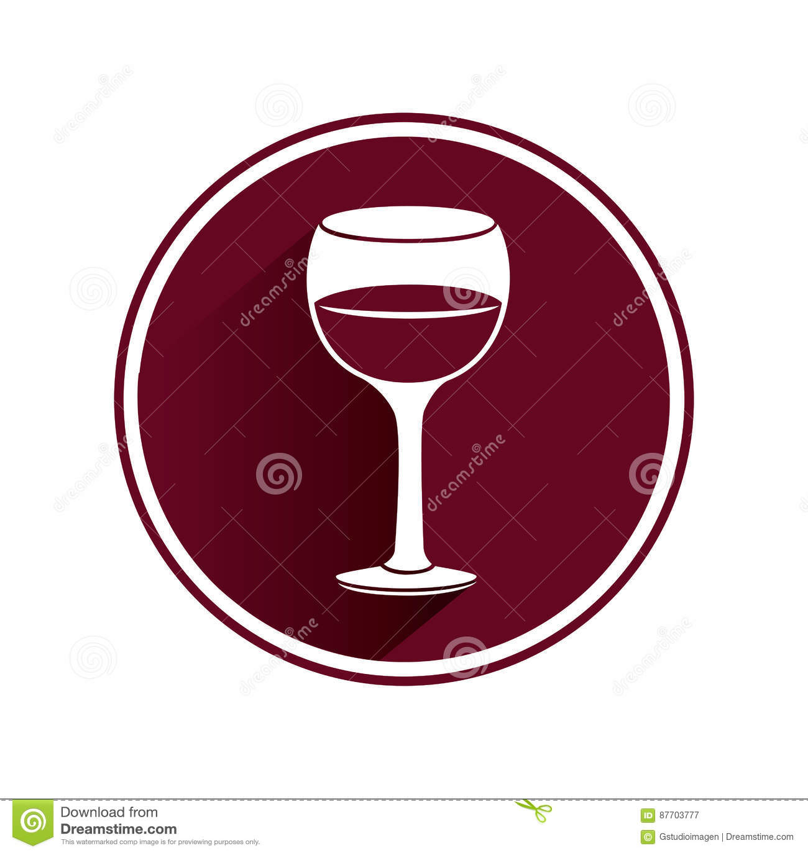 Icône d isolement par tasse de vin