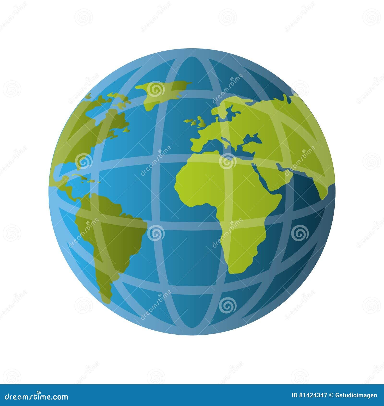 Icône D Isolement Par Terre De Planète Du Monde Illustration