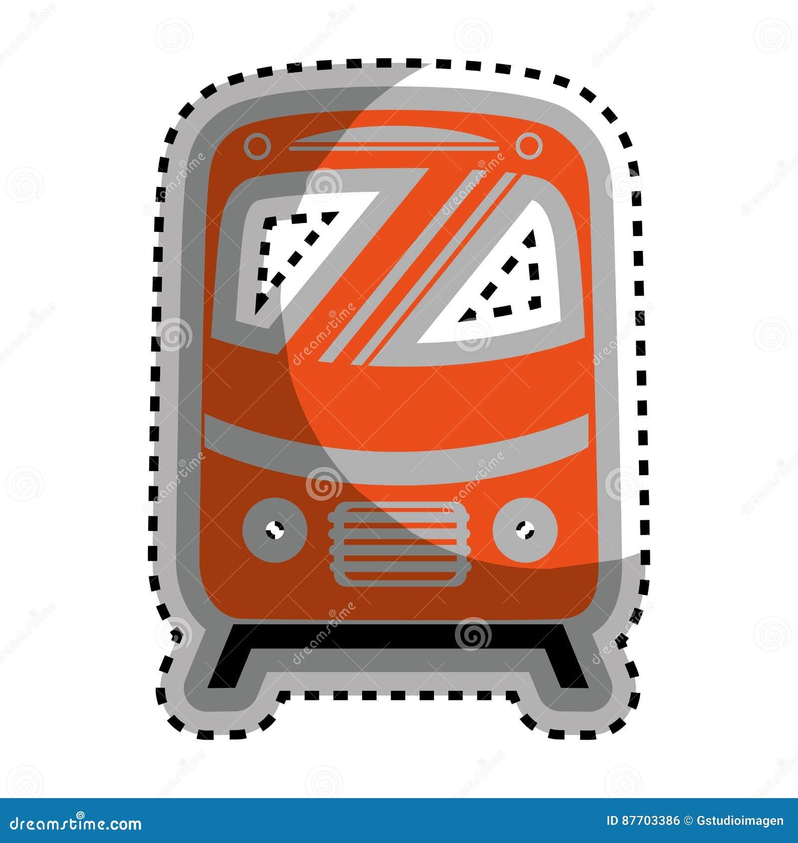 Icône d isolement par véhicule de tram