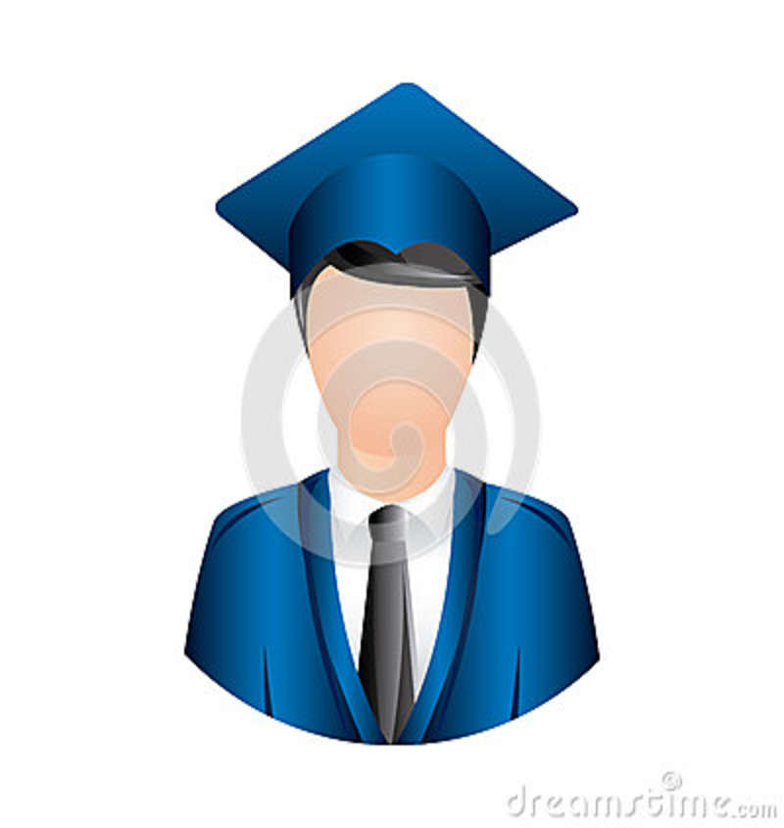 Icône d obtention du diplôme d homme de couleur