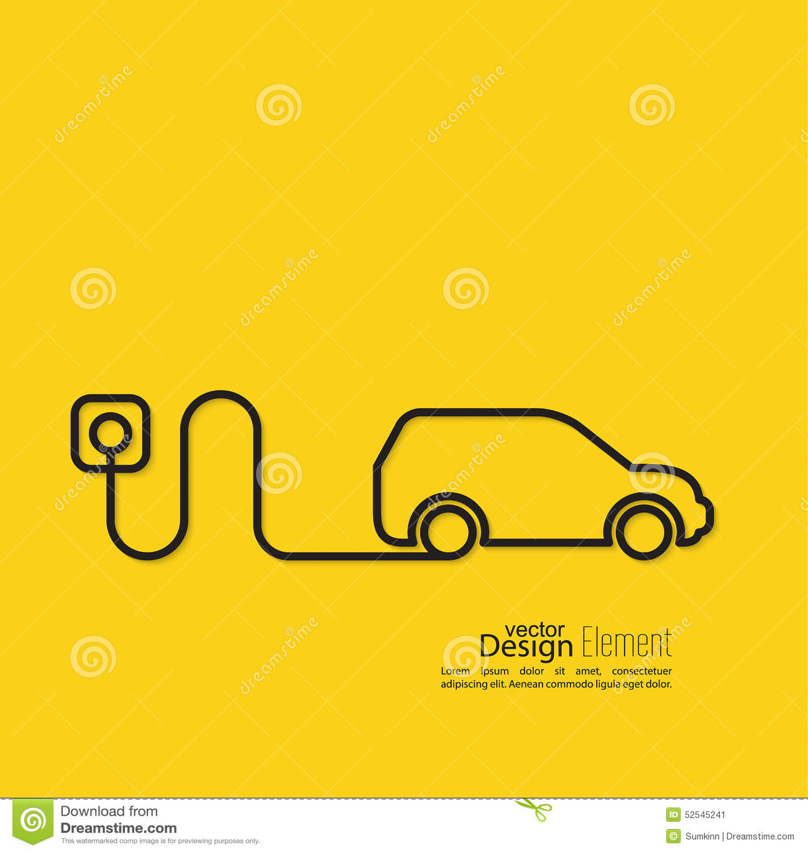 Icône d une voiture hybride
