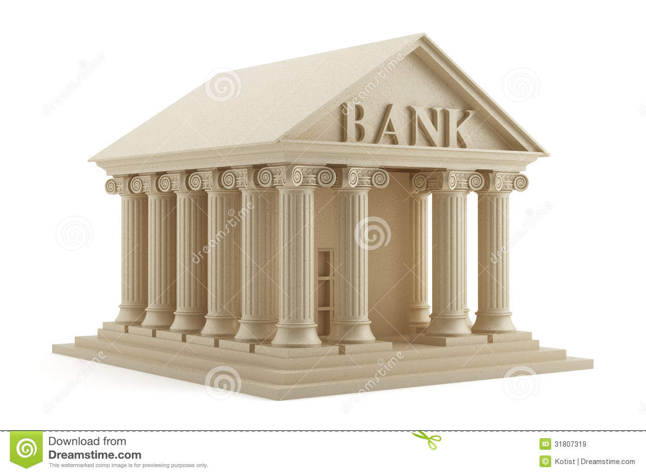 Banque Icone icône de banque illustration stock. illustration du banking - 31807319