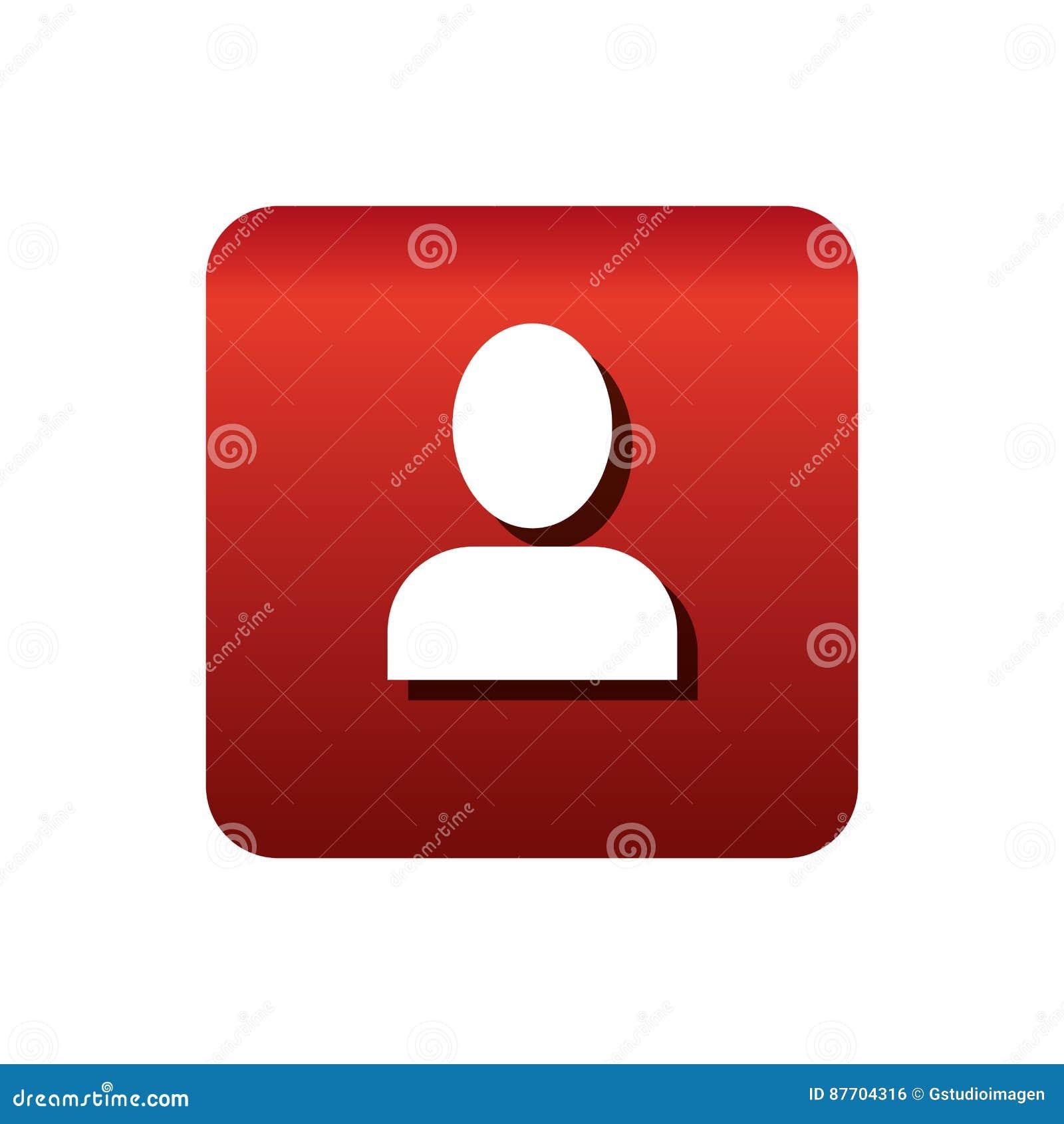 Icône de bouton de silhouette d utilisateur