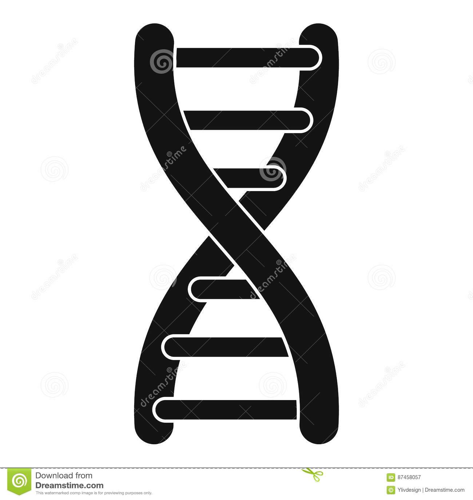 Icône de brin d ADN, style simple