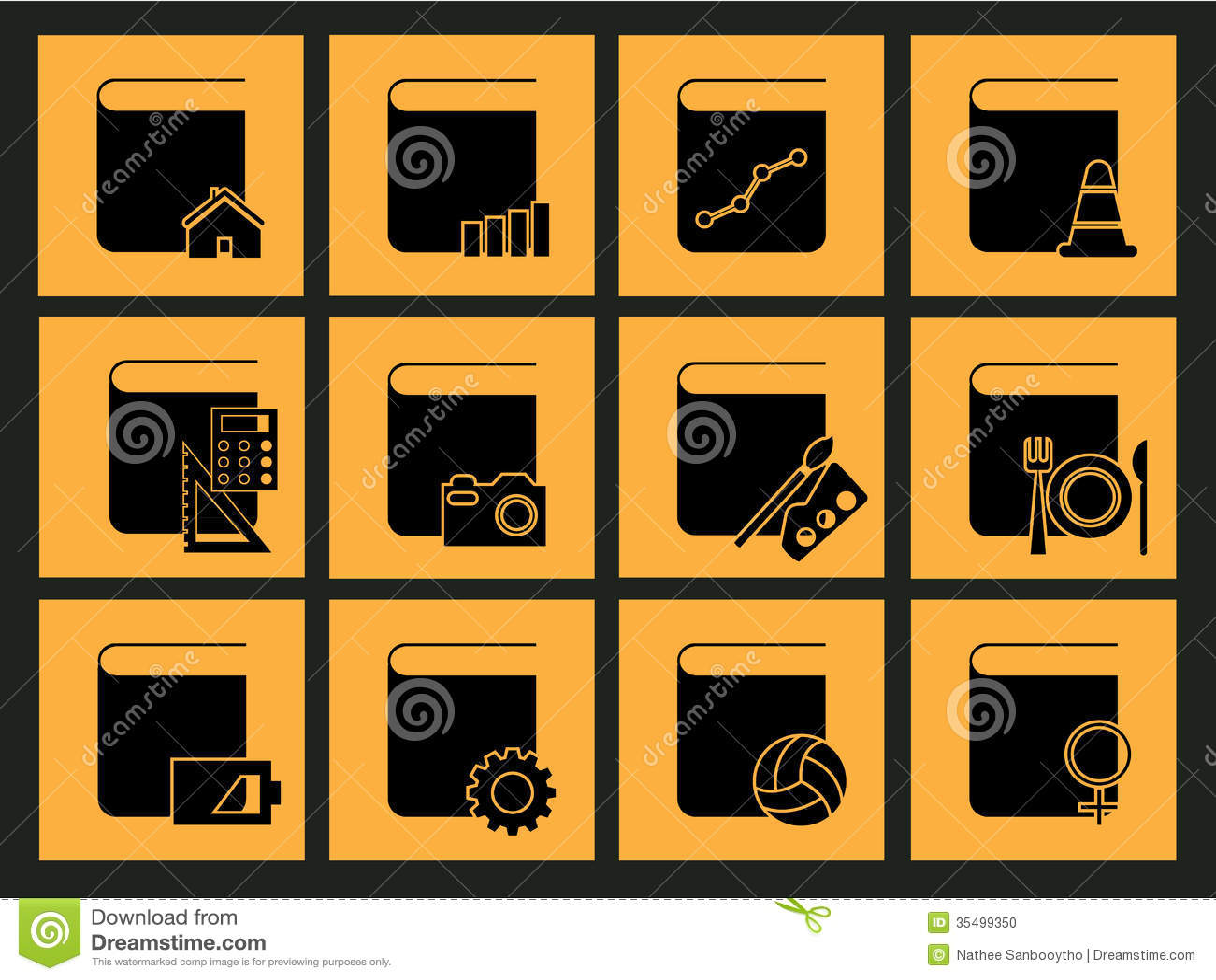 ic ne de bureau illustration de vecteur illustration du. Black Bedroom Furniture Sets. Home Design Ideas