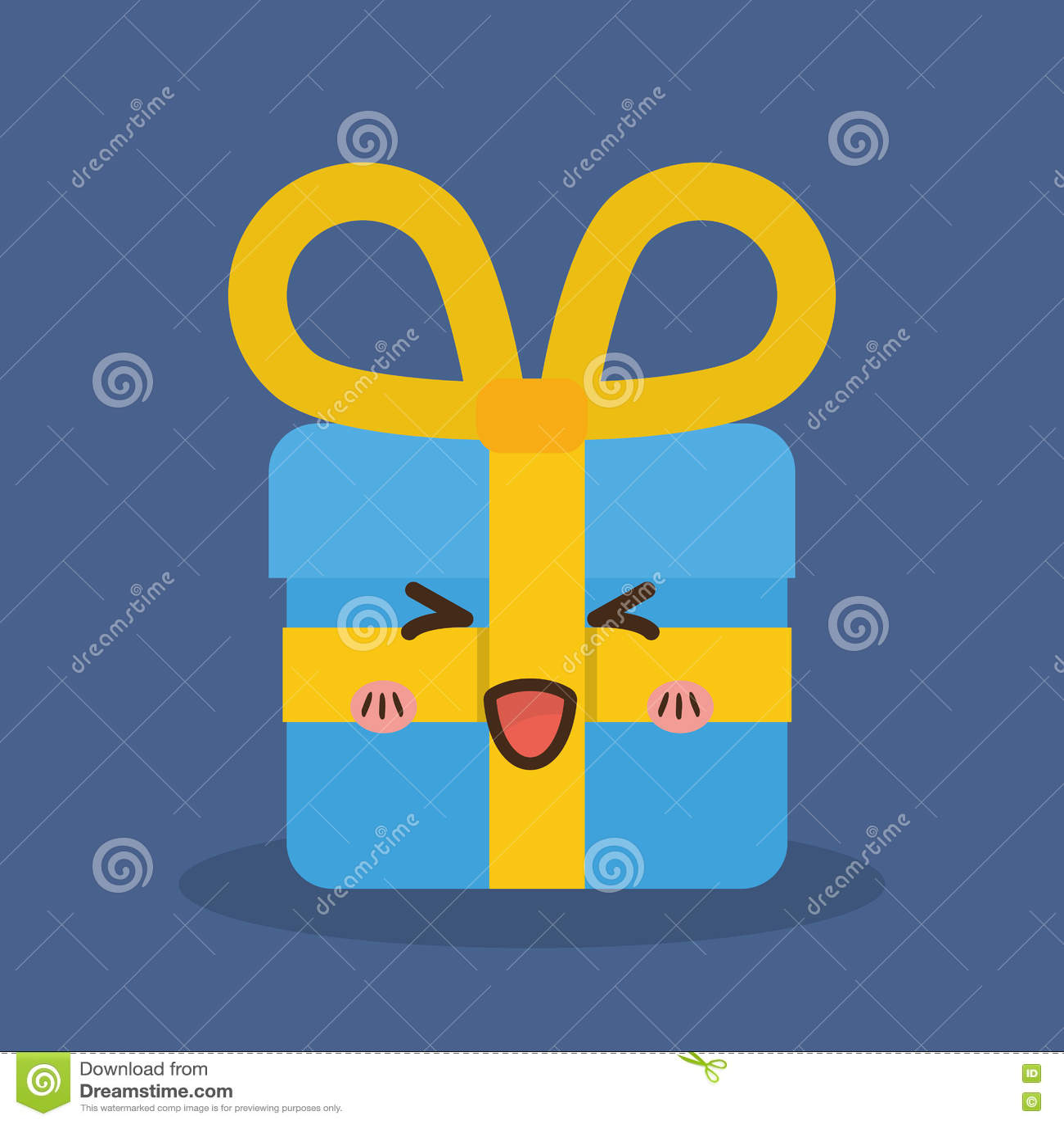 Icône De Cadeau De Kawaii Conception De Joyeux Noël Dessin