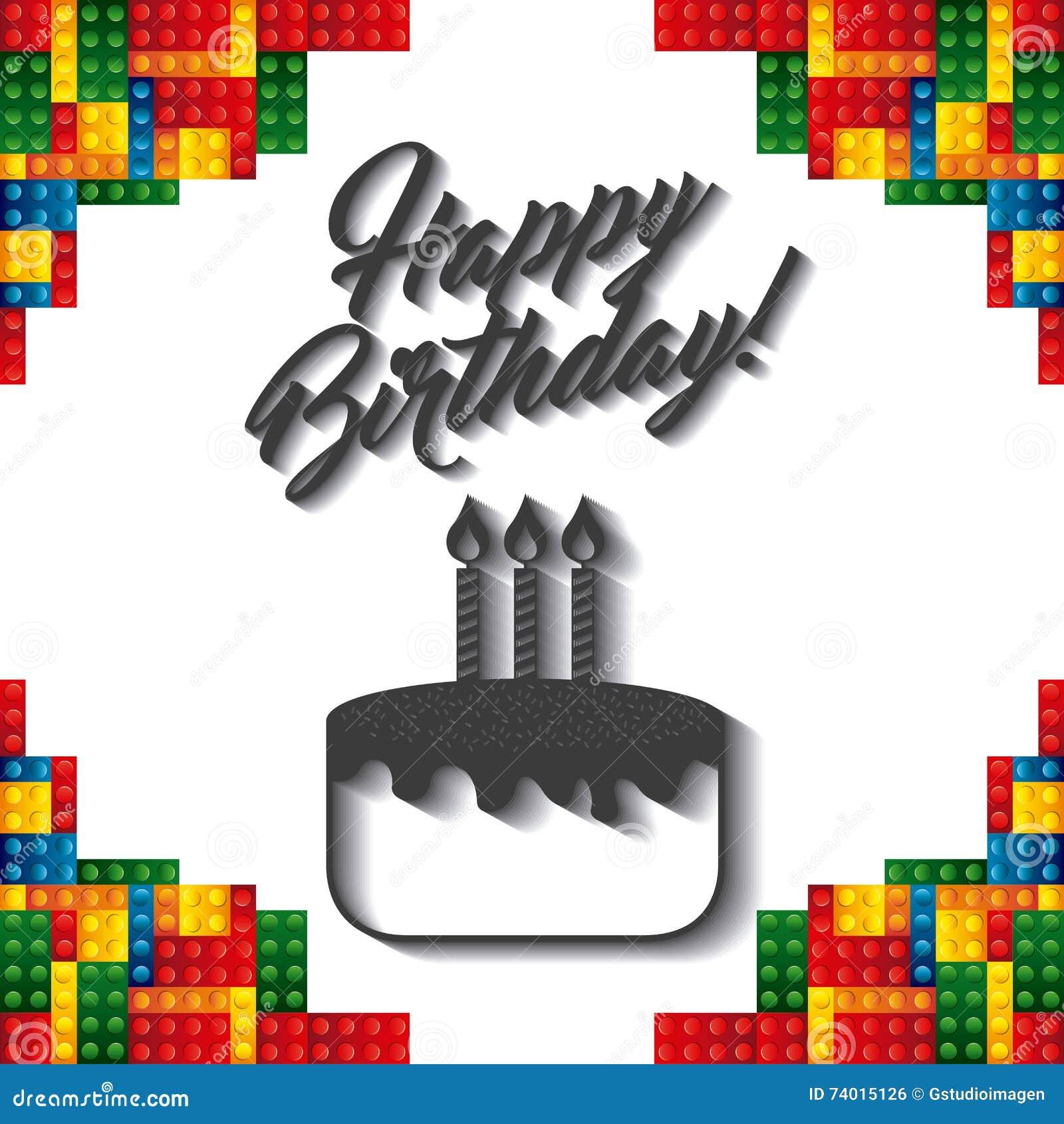 Icône De Cadre De Lego Conception De Joyeux Anniversaire Dessin De