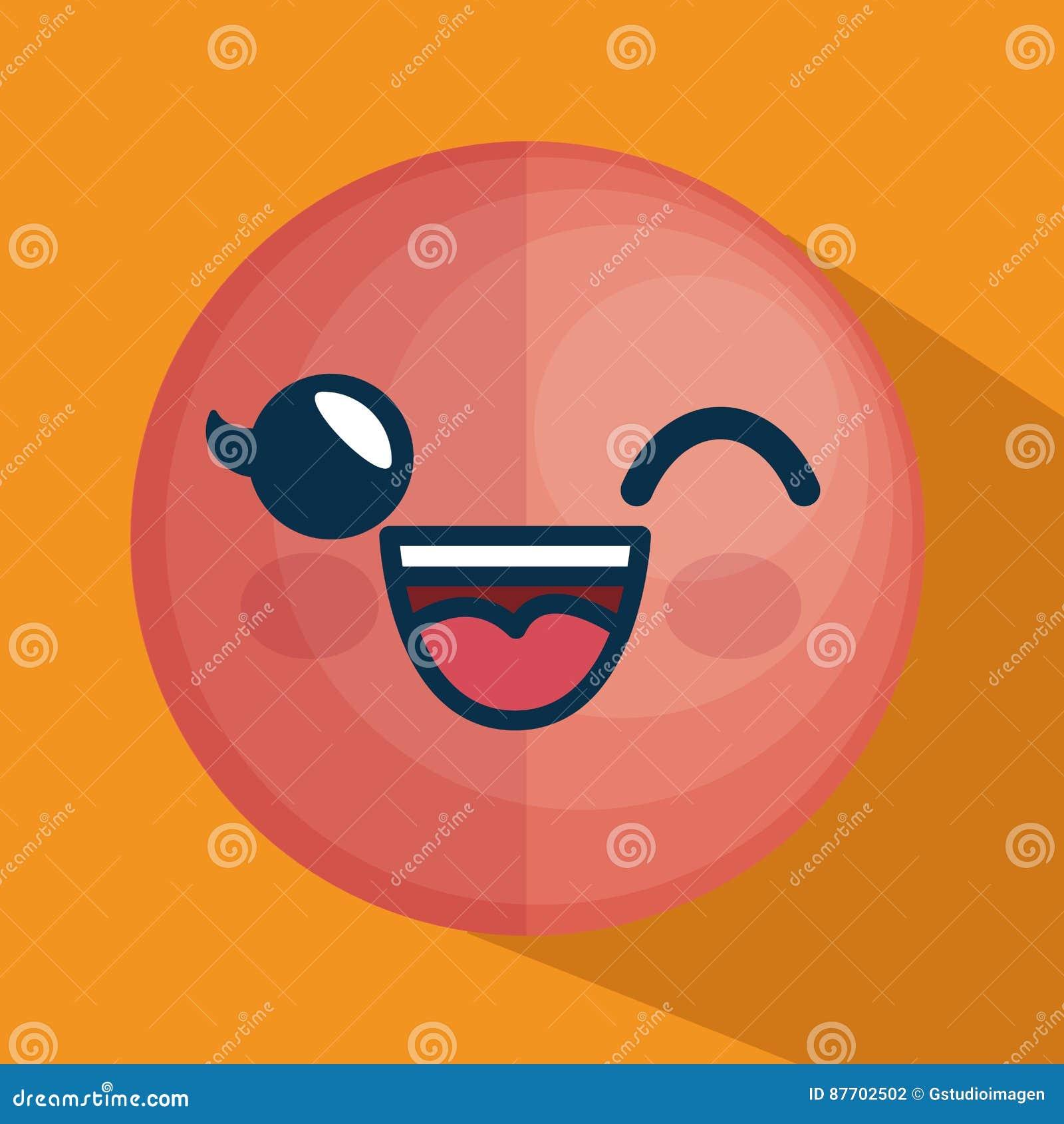 Icône de caractère d émoticône de visage