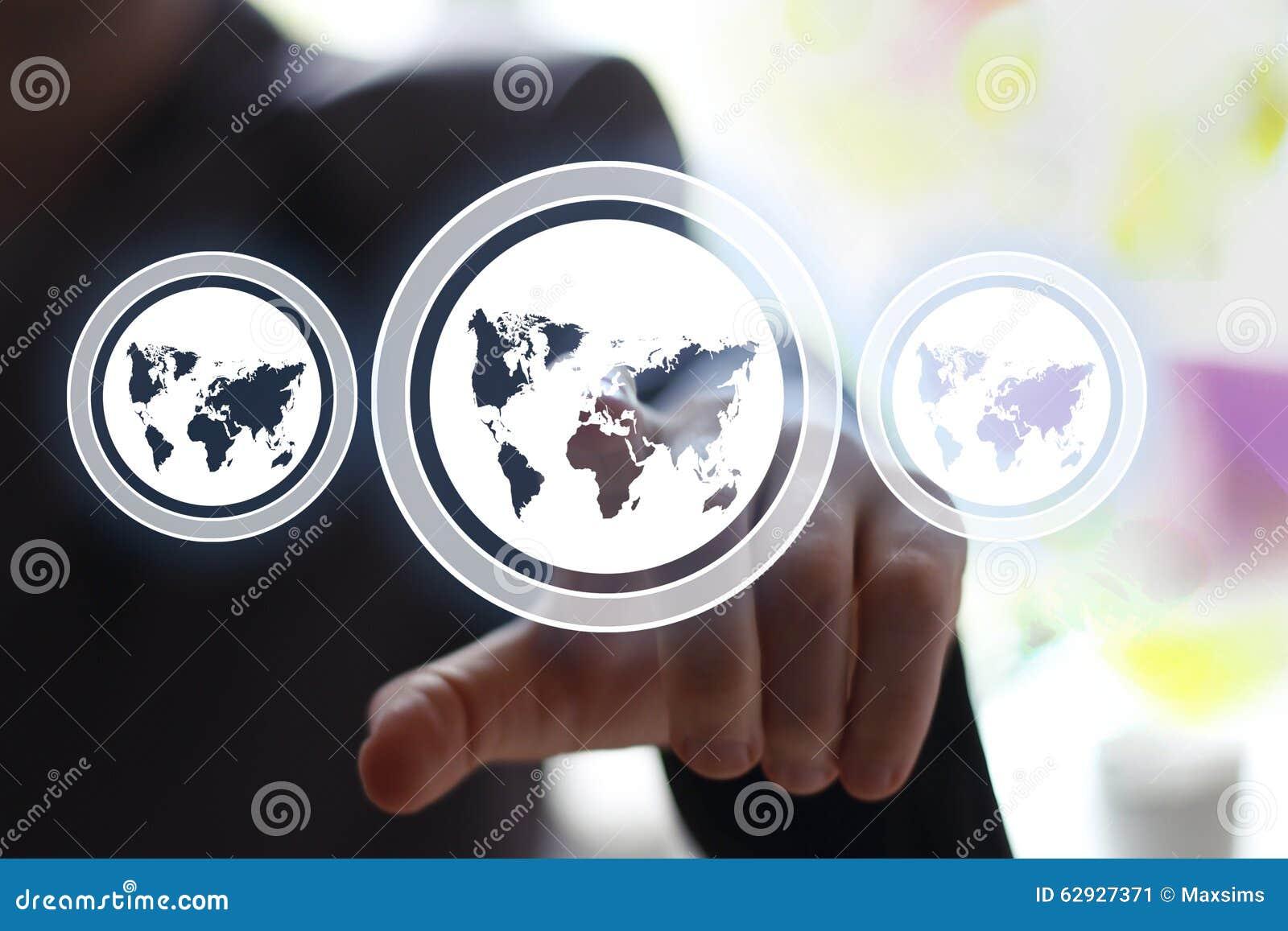 Icône de carte de Web de bouton d interface de contact d homme d affaires