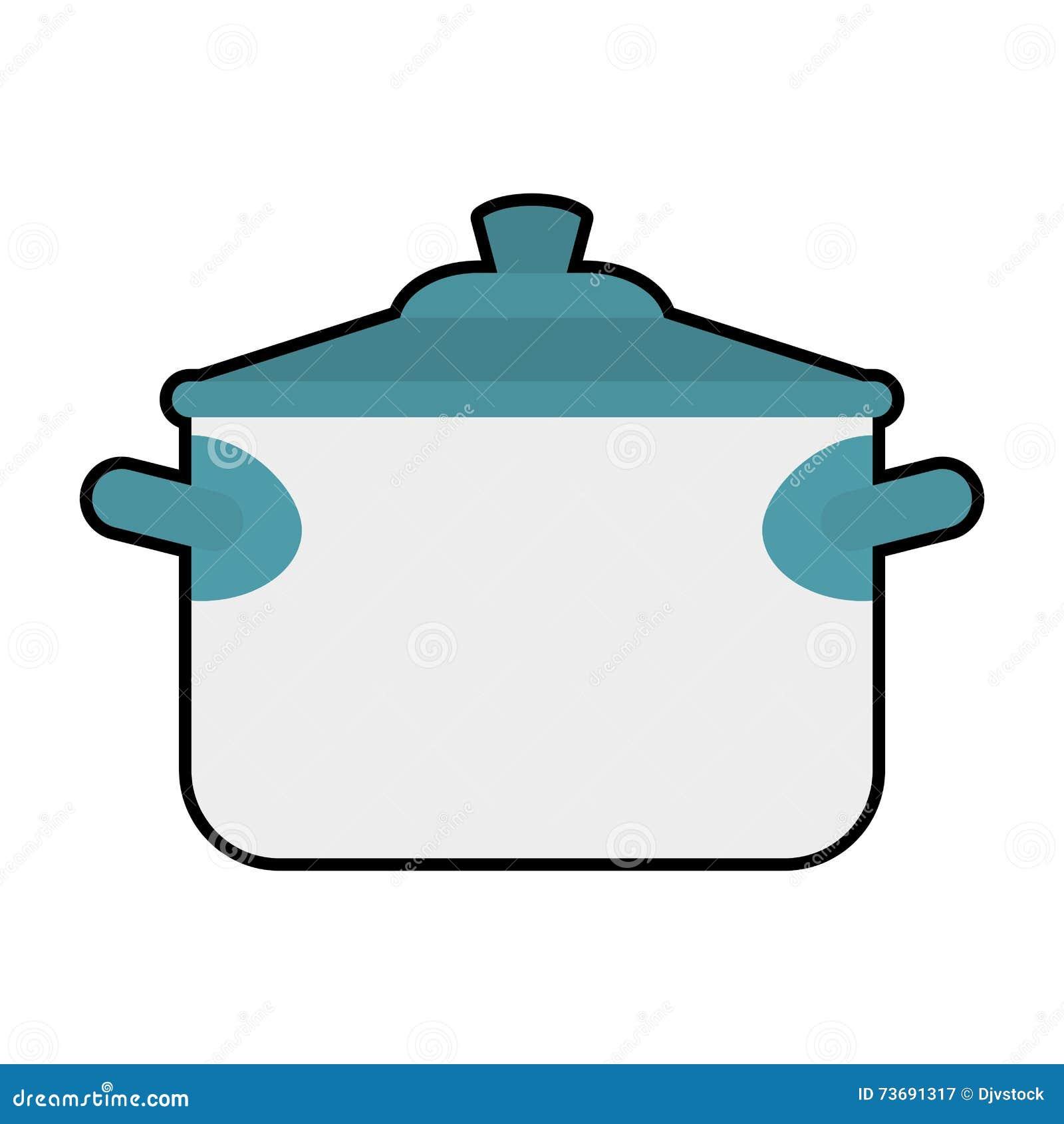 Dessin Casserole Cuisine icône de casserole cuisine et conception de cuisson dessin de
