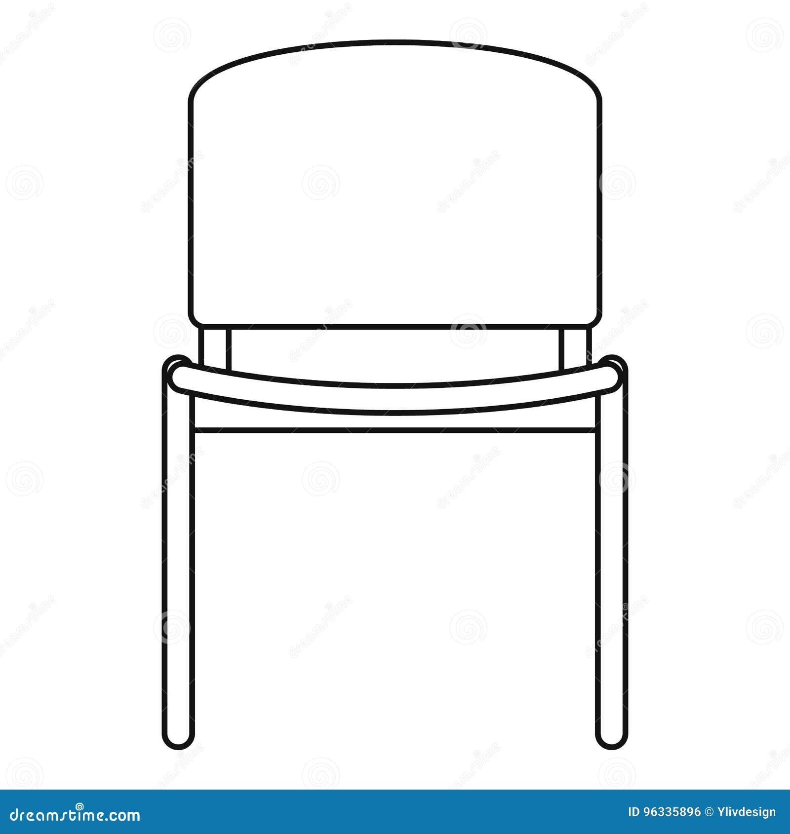 Icône De Chaise De Bureau Style Densemble Illustration De Vecteur