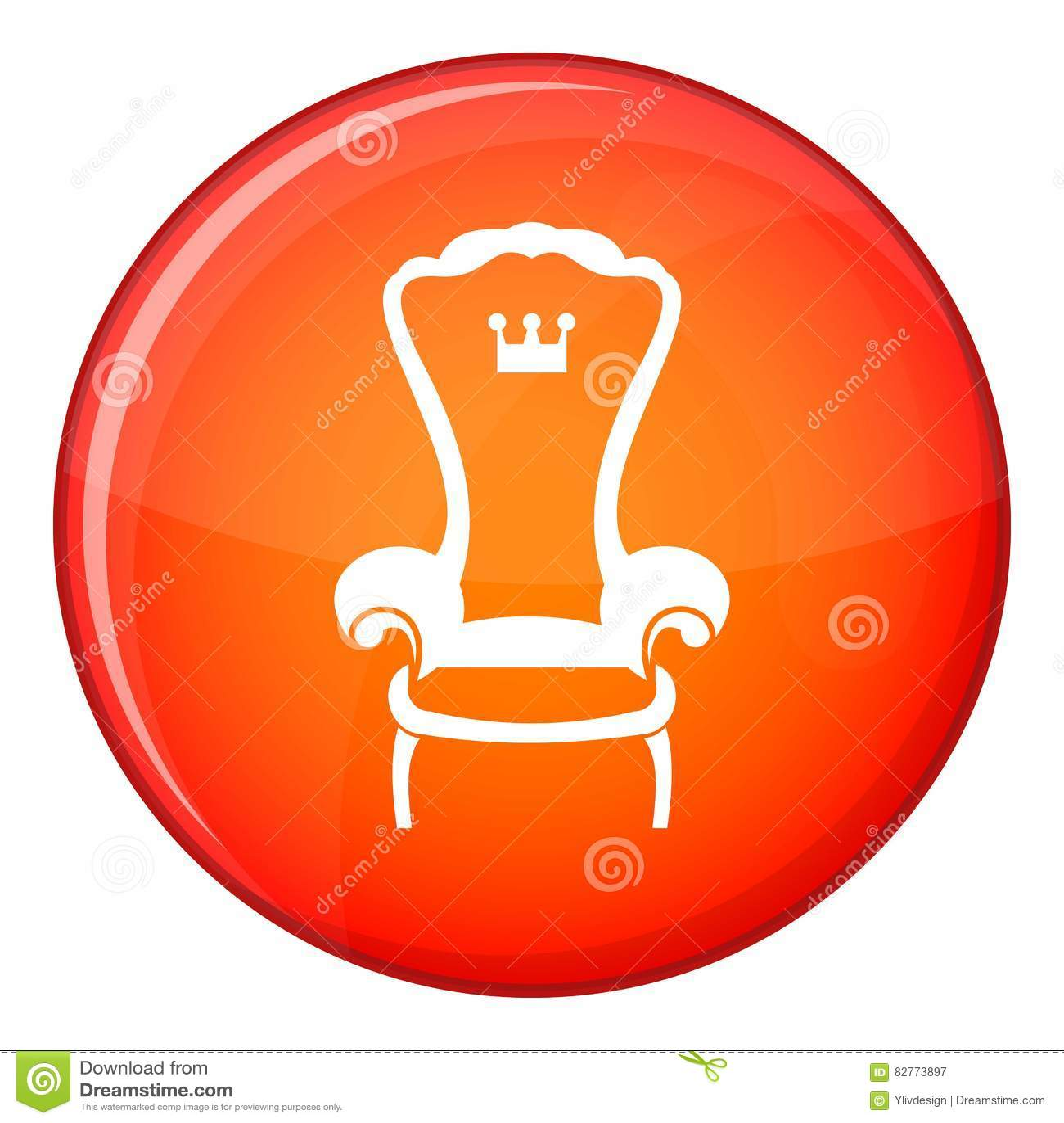 Icne De Chaise Trne Roi Style Plat