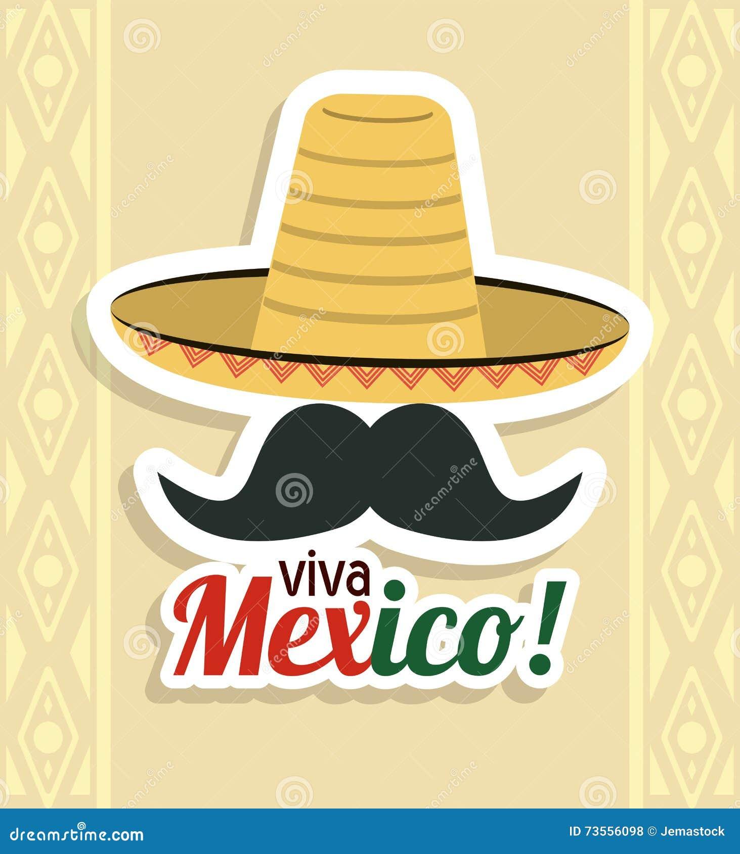 Ic ne de chapeau et de moustache culture du mexique dessin de vecteur photo stock image du - Dessin du mexique ...