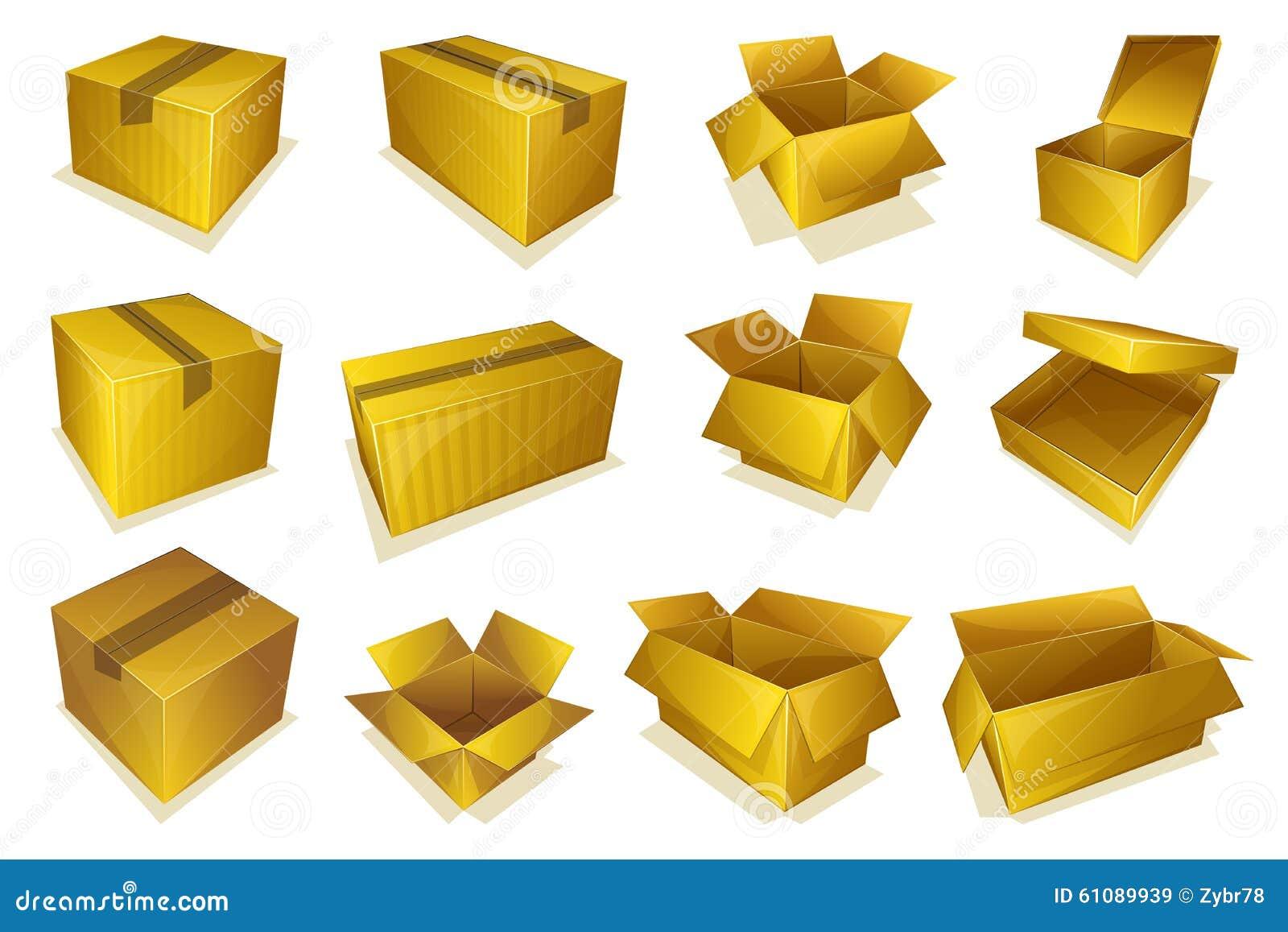 ic ne de colis de carton illustration de vecteur image 61089939. Black Bedroom Furniture Sets. Home Design Ideas