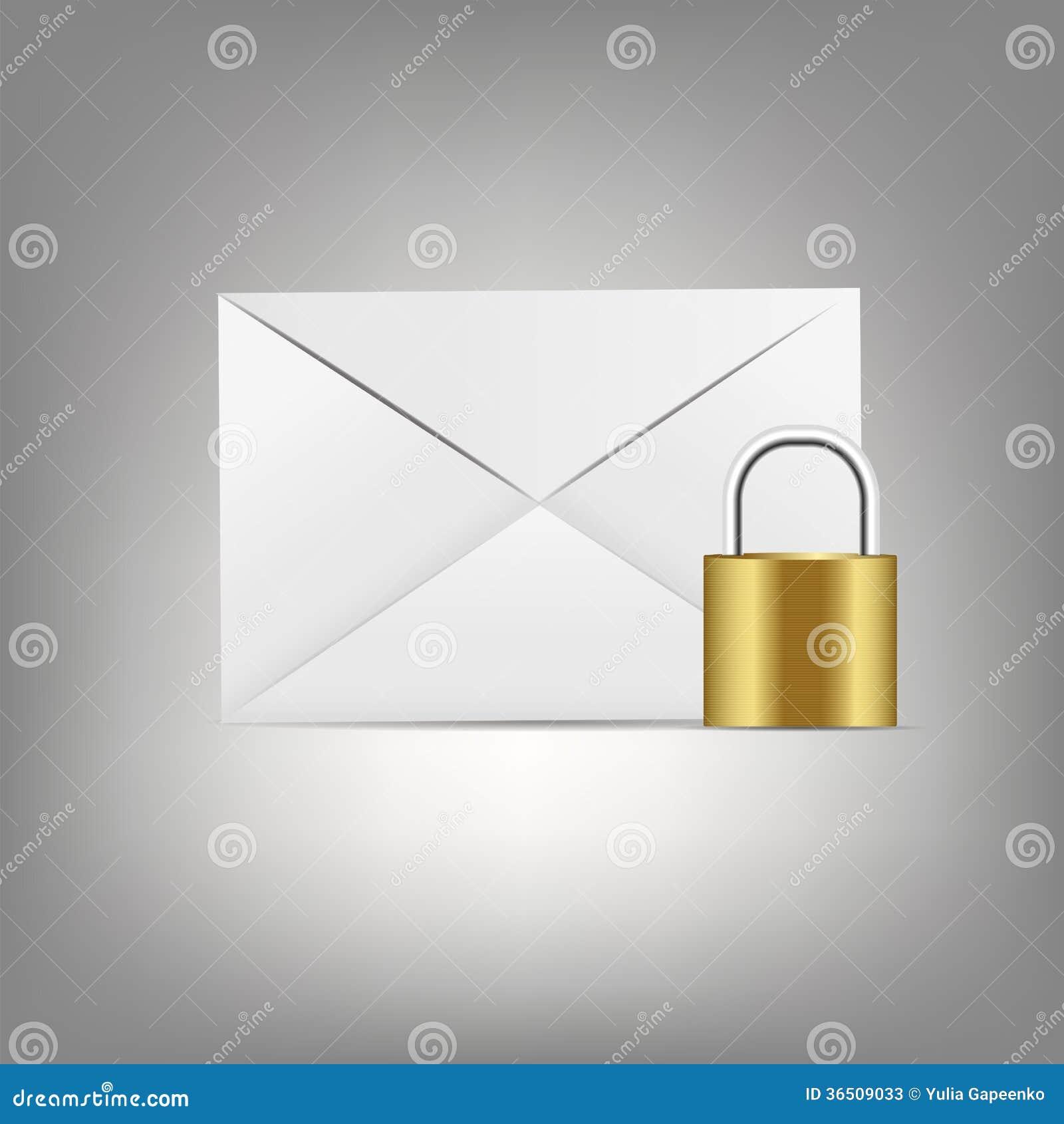 Icône de courrier dans l illustration en verre de vecteur de bouton