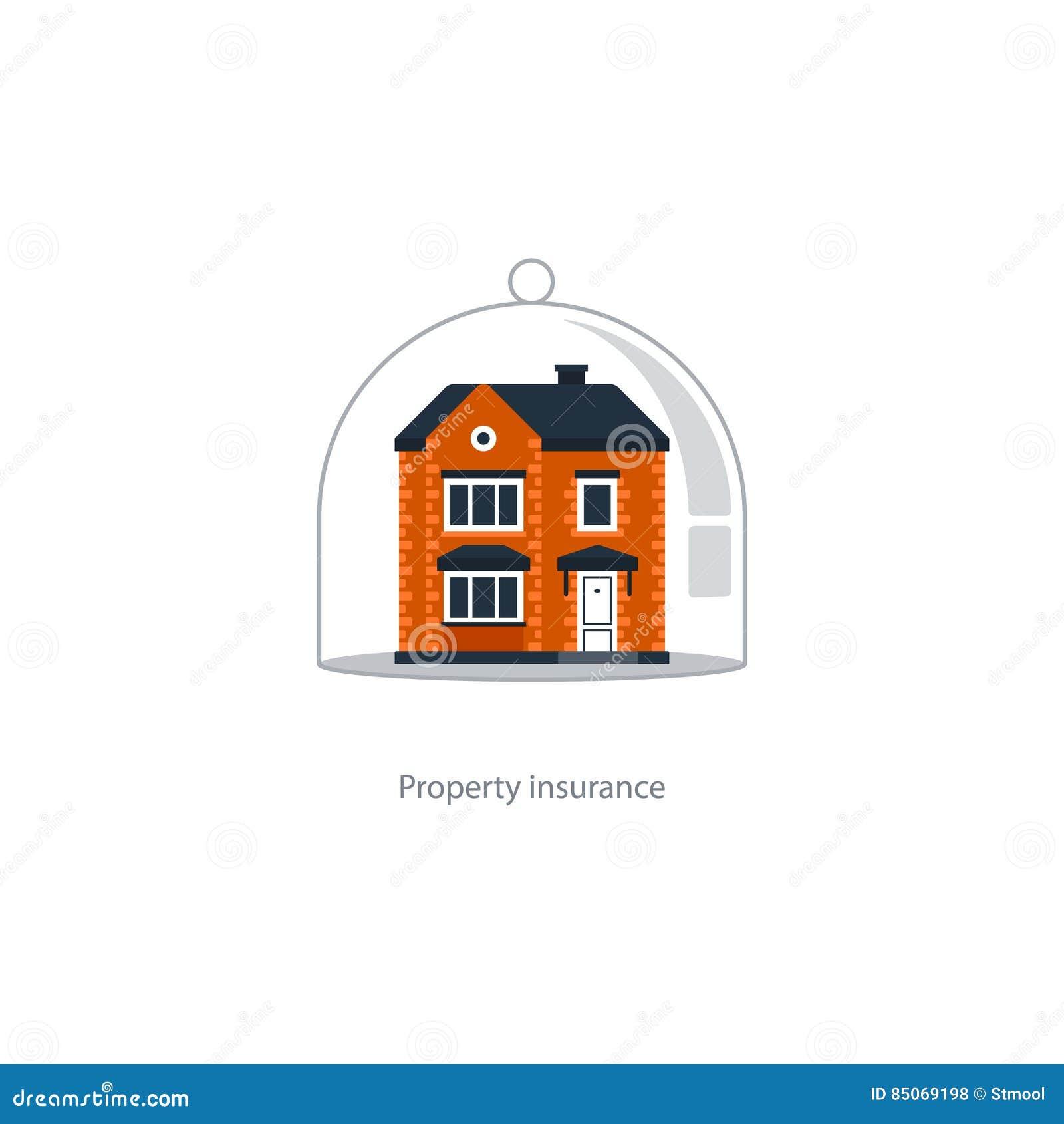 Icône de couverture d immobiliers, système de protection, sécurité, assurance de maison