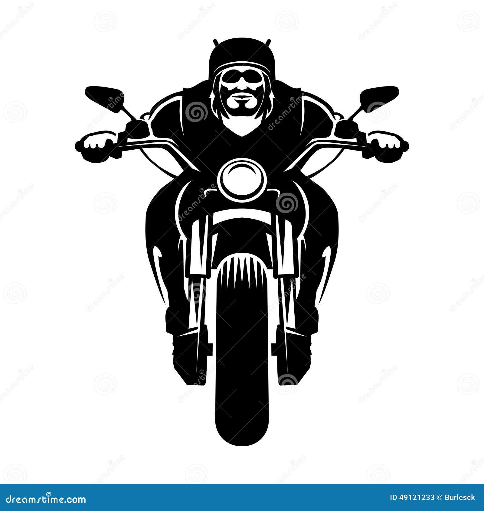 ic244ne de cycliste homme sur une moto illustration de