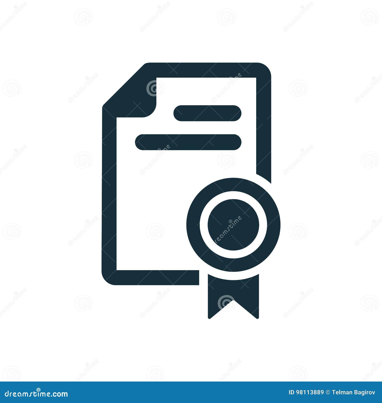 Icône de diplôme de certificat