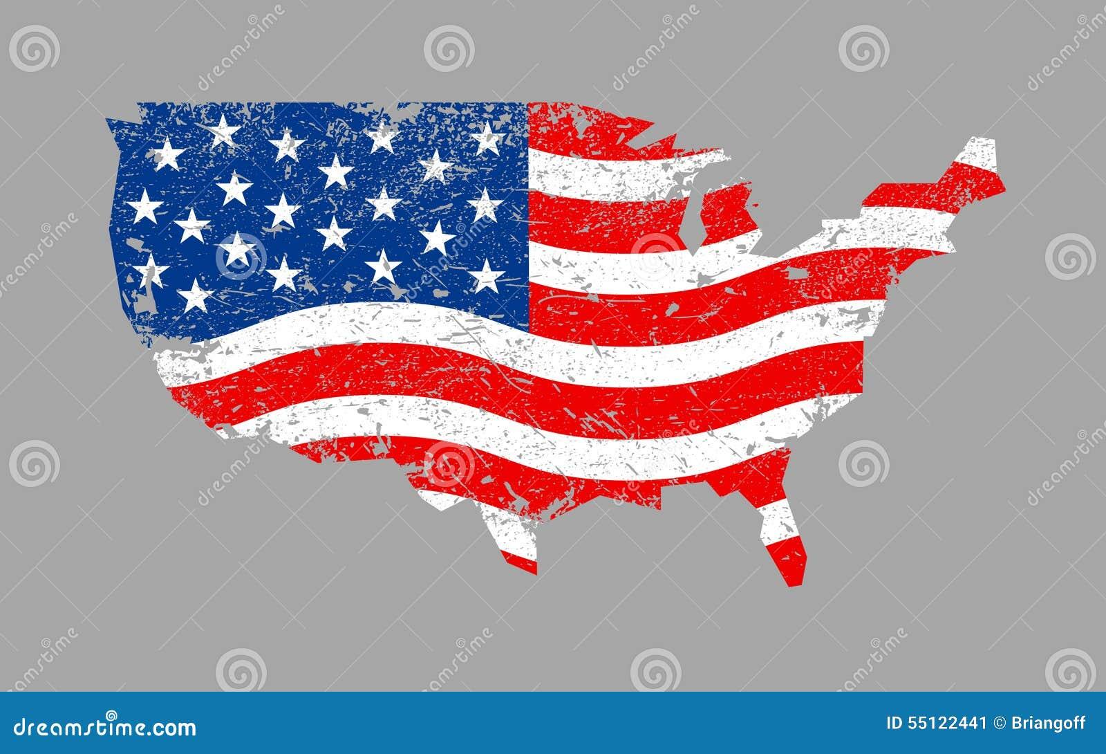 Ic ne de drapeau de pays de l 39 am rique illustration stock image 55122441 - Drapeau de l amerique ...
