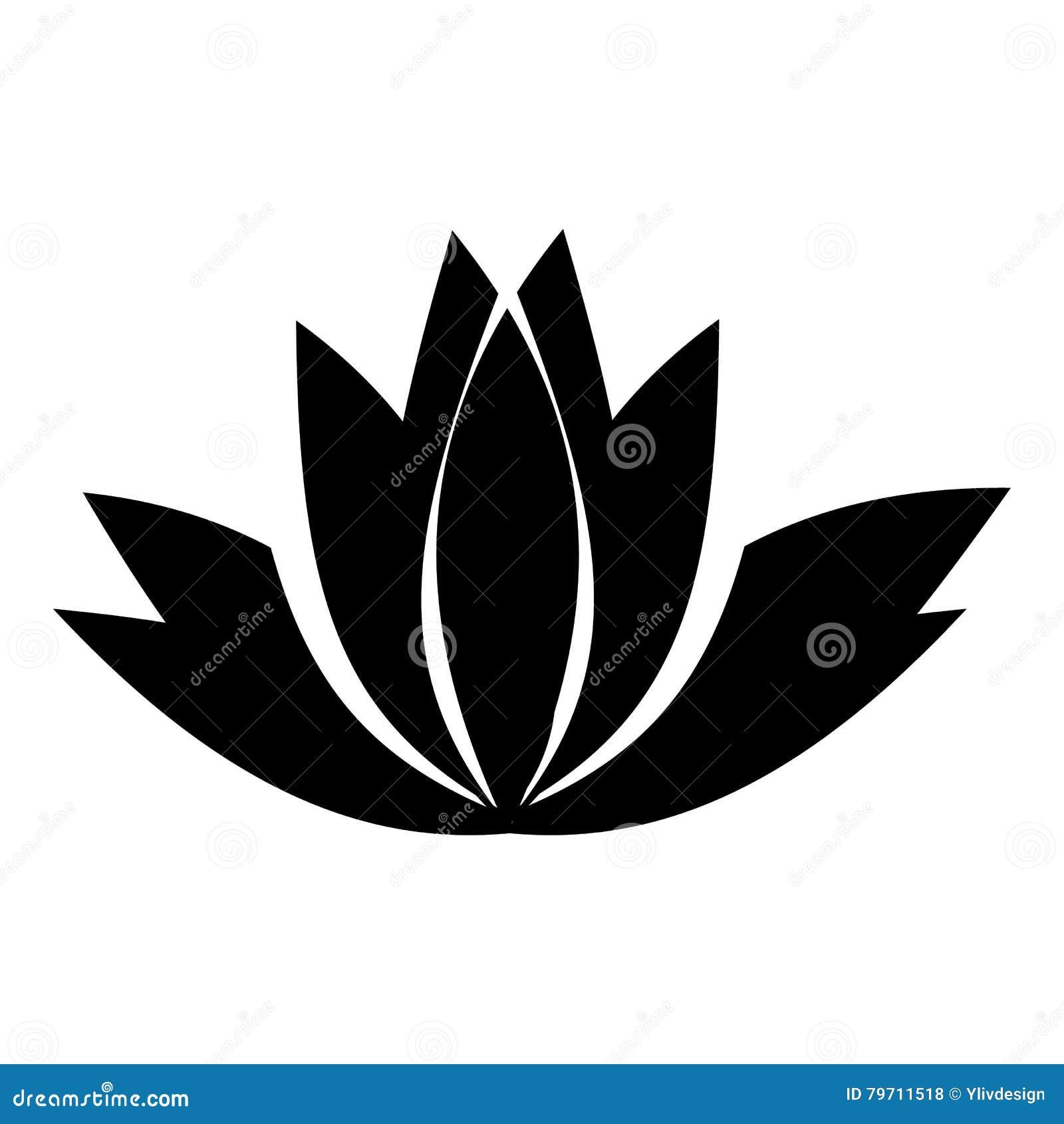 Icone De Fleur De Lotus Style Simple Illustration De Vecteur