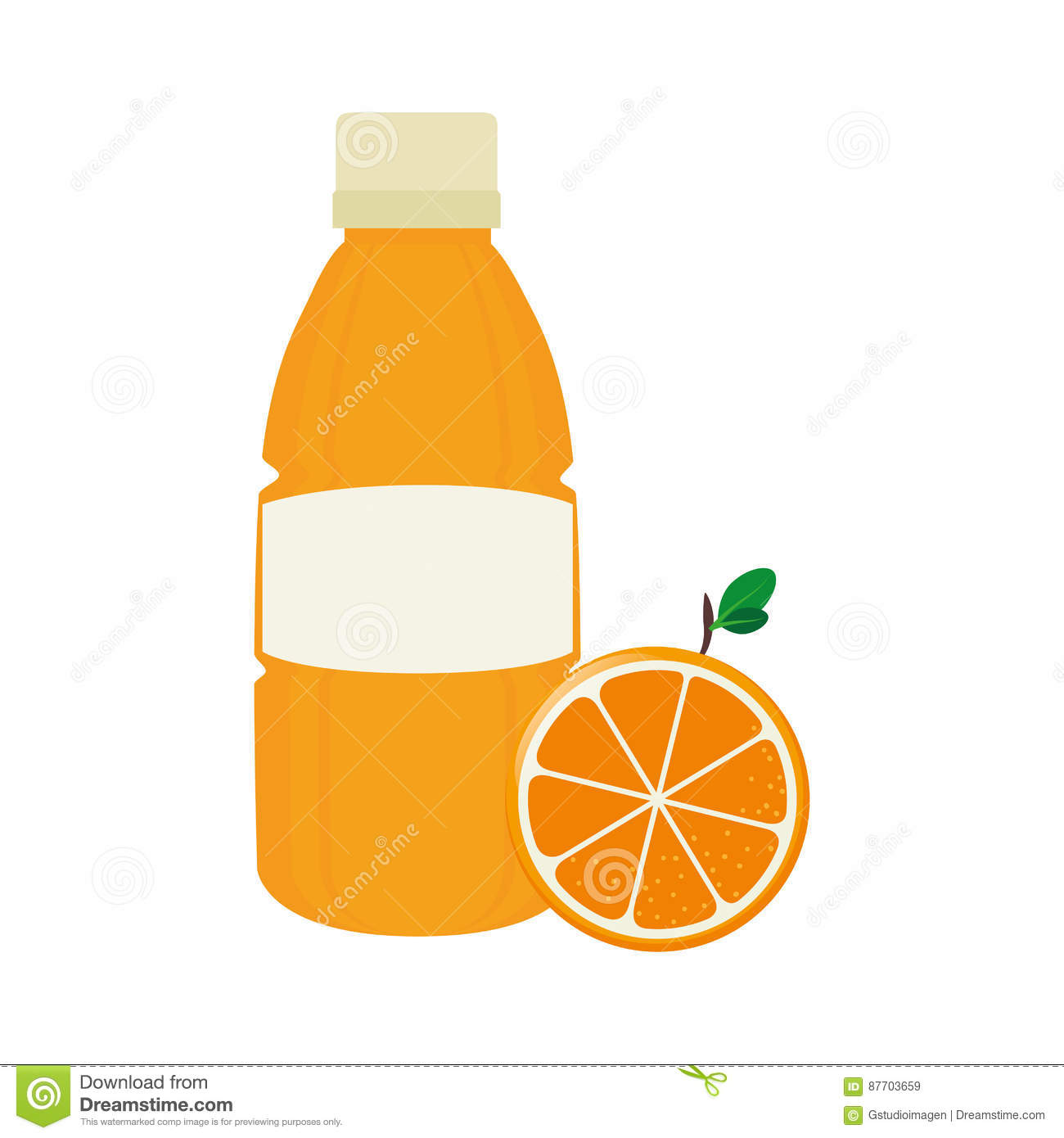 Icône de fruit de jus d orange