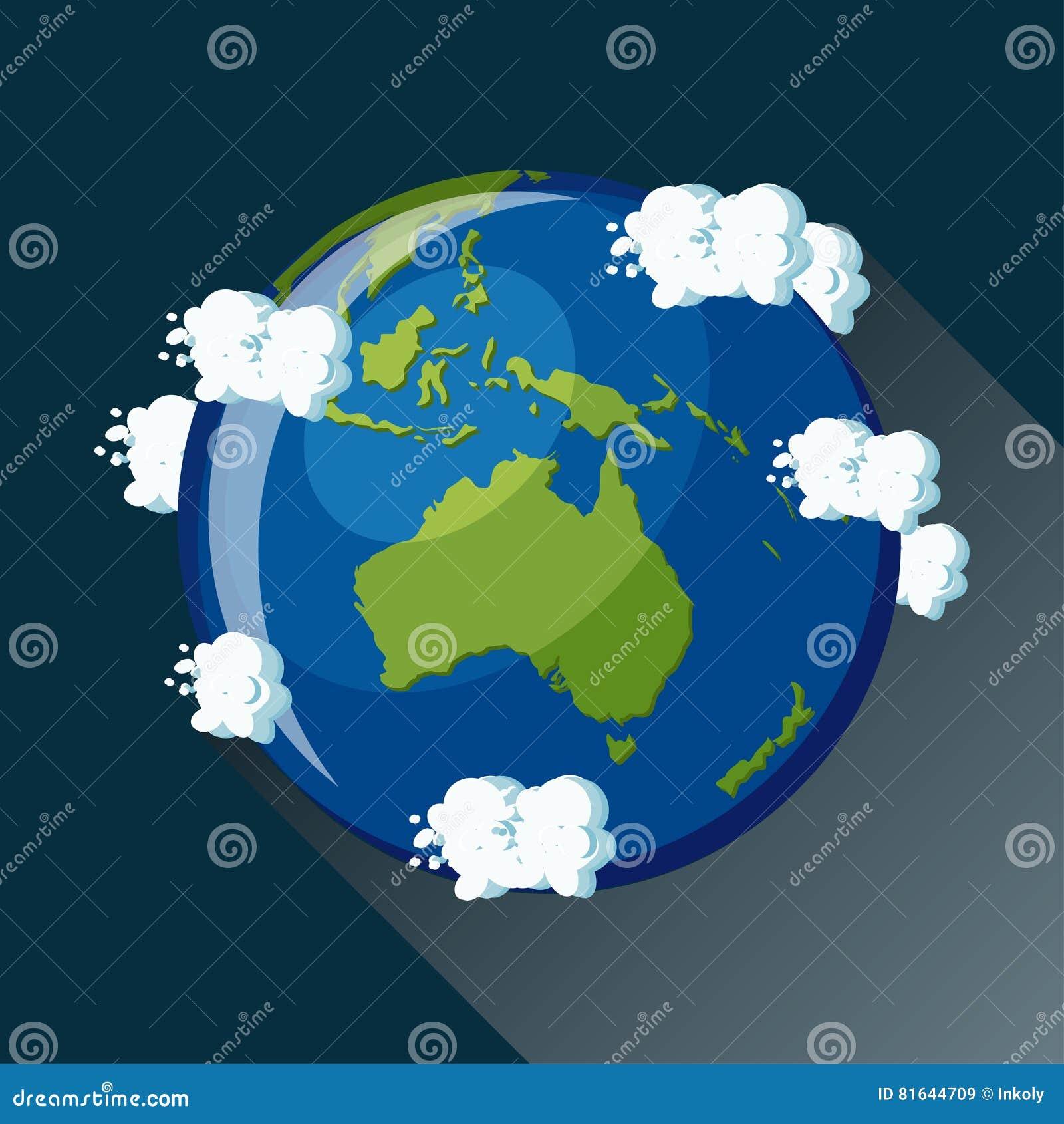 Icône de globe d Australie