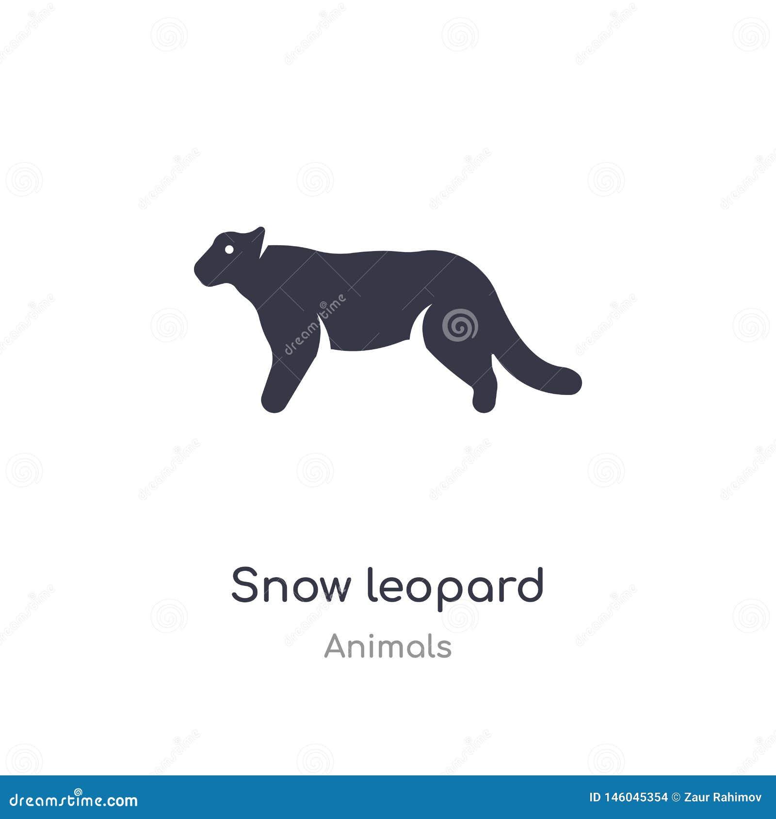 Ic?ne de l?opard de neige illustration d isolement de vecteur d icône de léopard de neige de collection d animaux editable chante