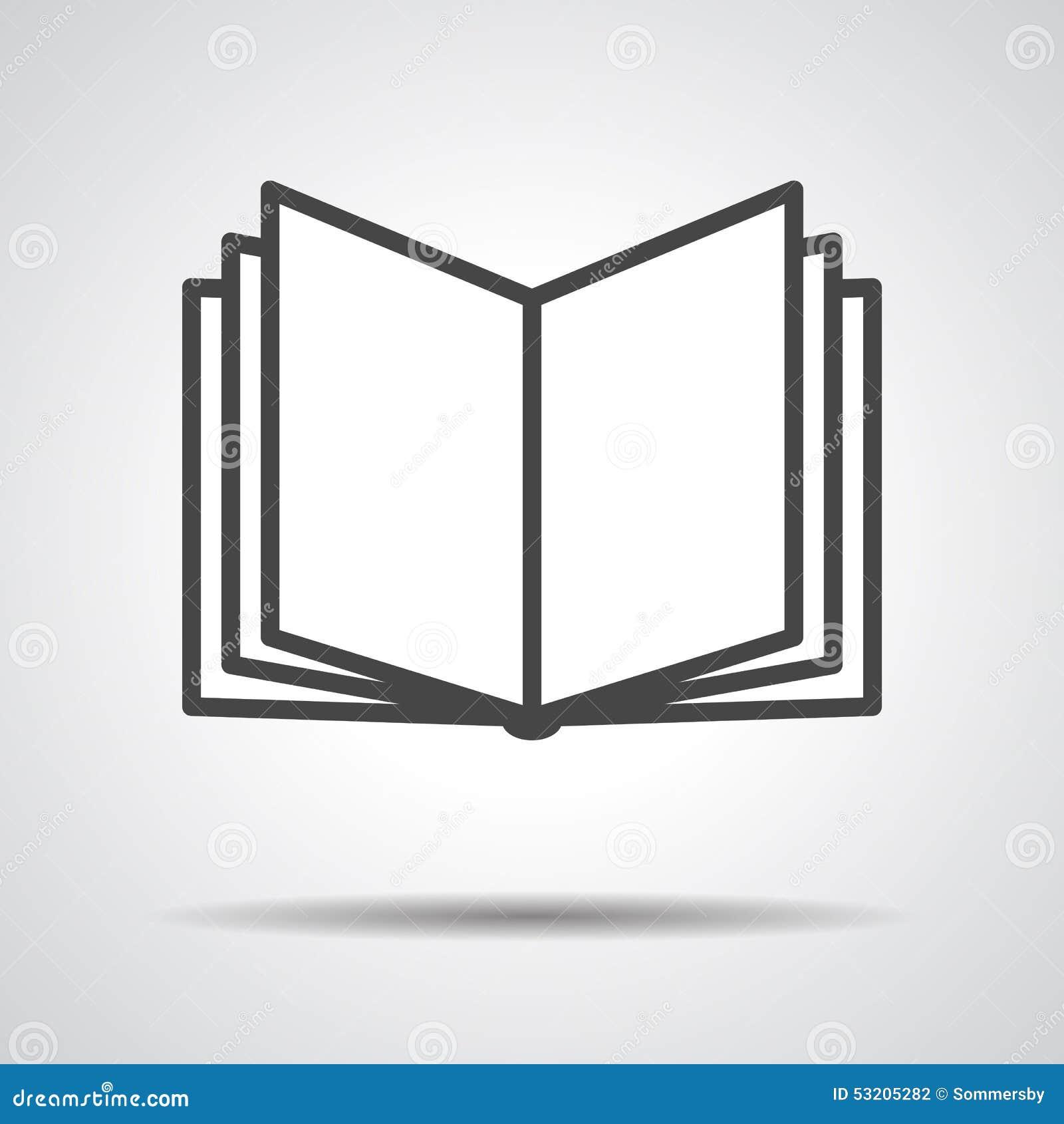 Icone De Livre D Isolement Sur Le Fond Gris Illustration De