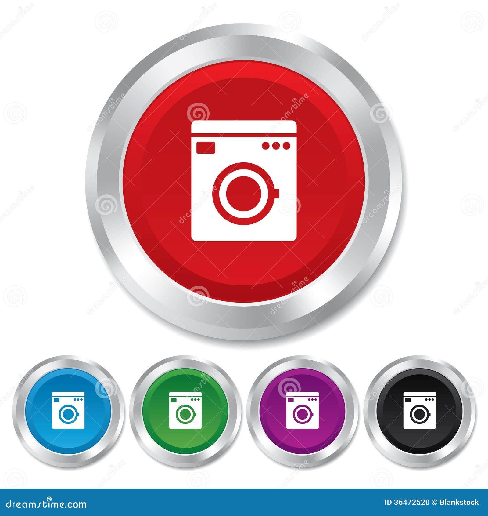 ic ne de machine laver symbole d 39 appareils m nagers photo stock image 36472520. Black Bedroom Furniture Sets. Home Design Ideas