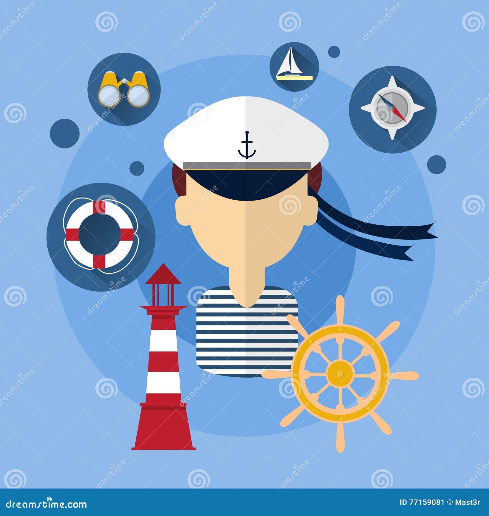 Icône de Man Ship Crew de marin