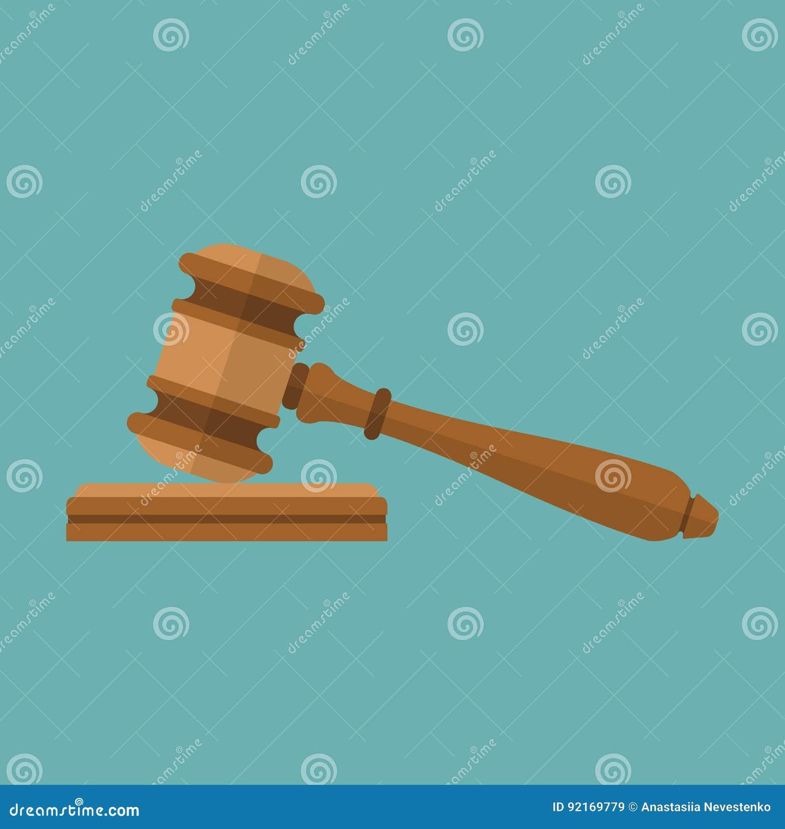 Icône de marteau de juge
