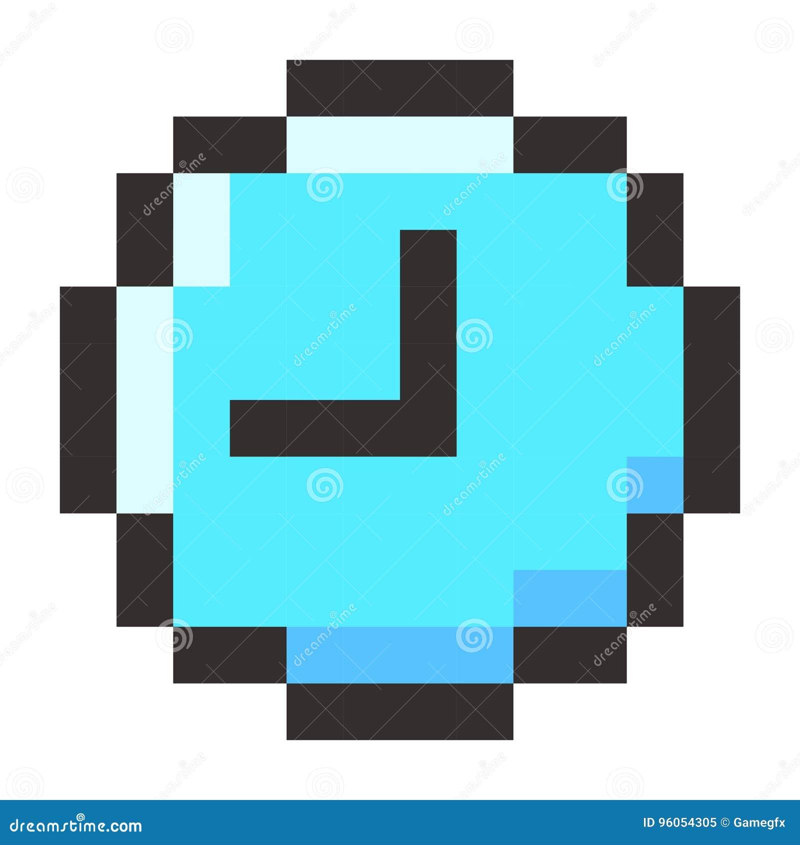 Icône de montre de temps d horloge de pixel rétro