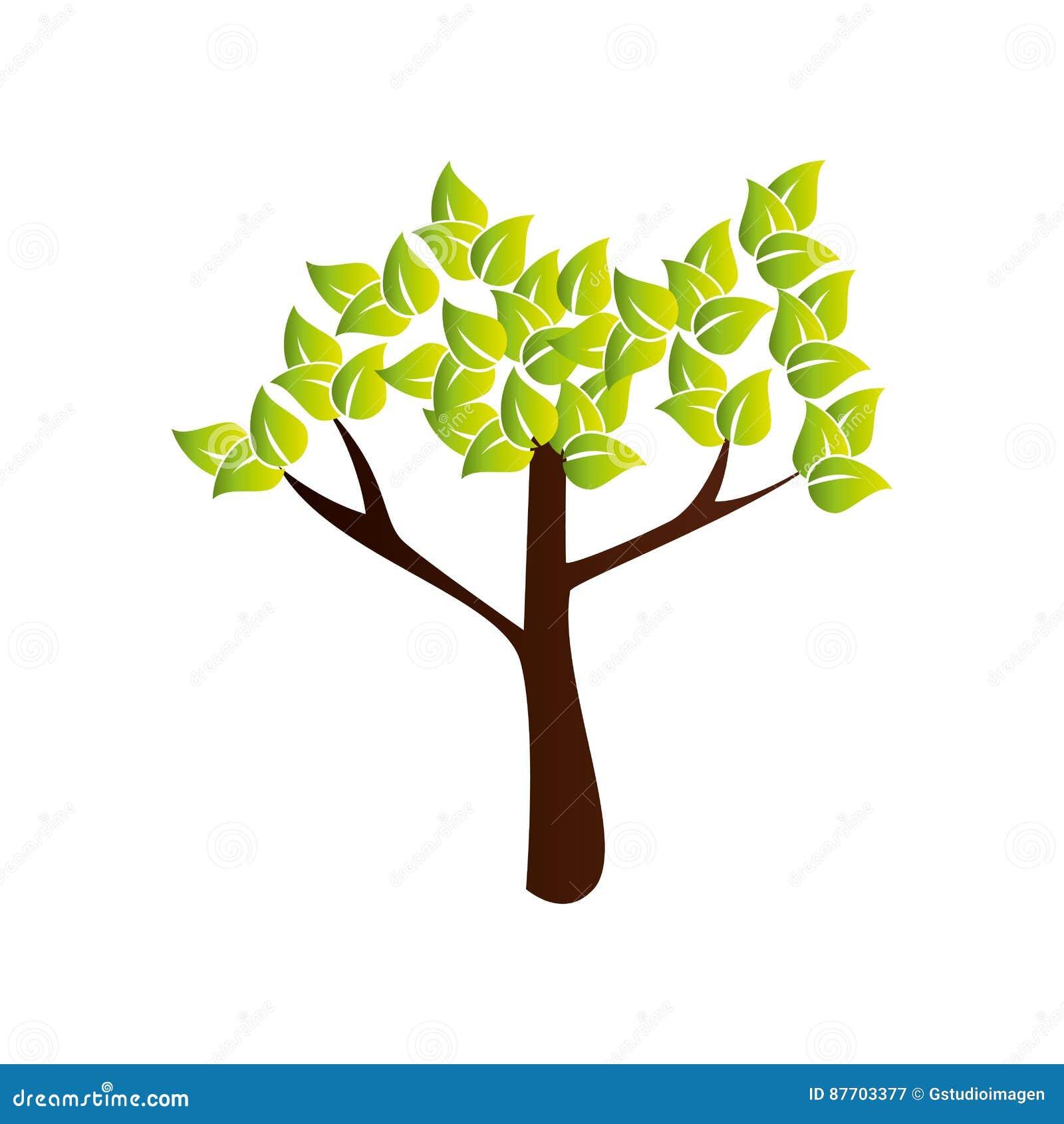 Icône de nature d usine d arbre