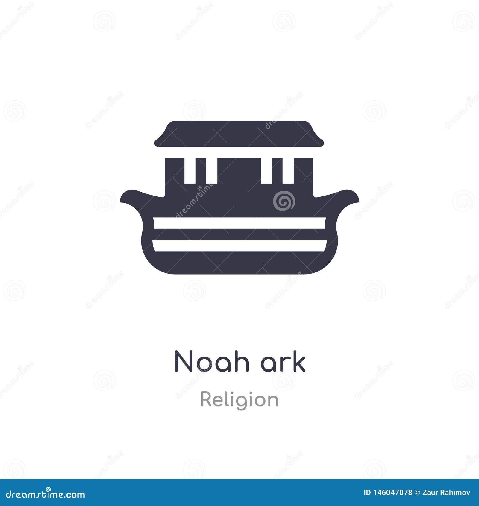 Ic?ne de Noah Ark illustration d isolement de vecteur d icône d arche de Noé de collection de religion editable chantez le symbol