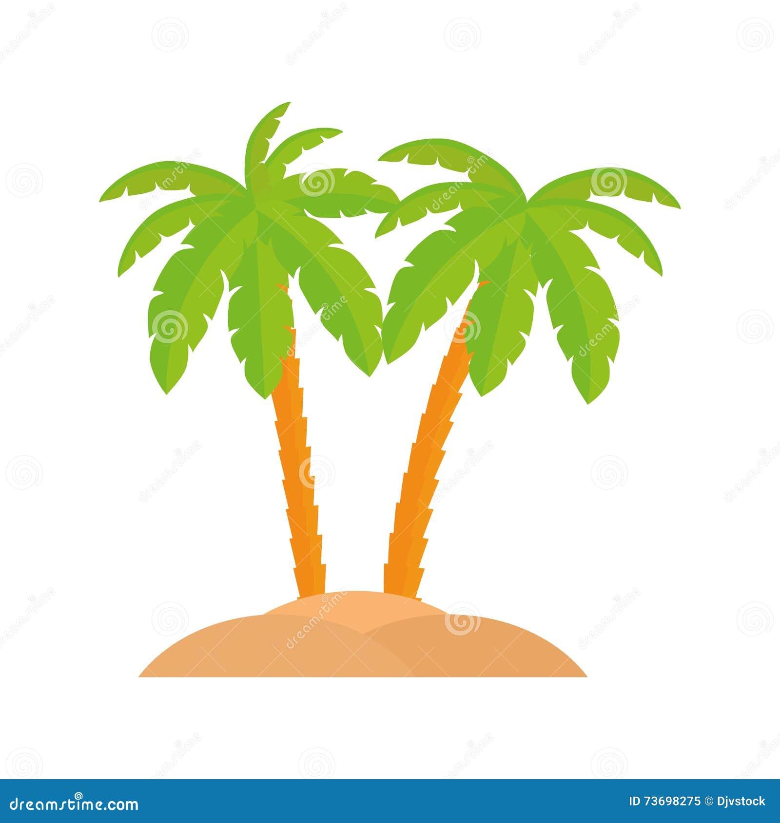 Ic ne de palmier conception de plage dessin de vecteur - Palmier dessin ...