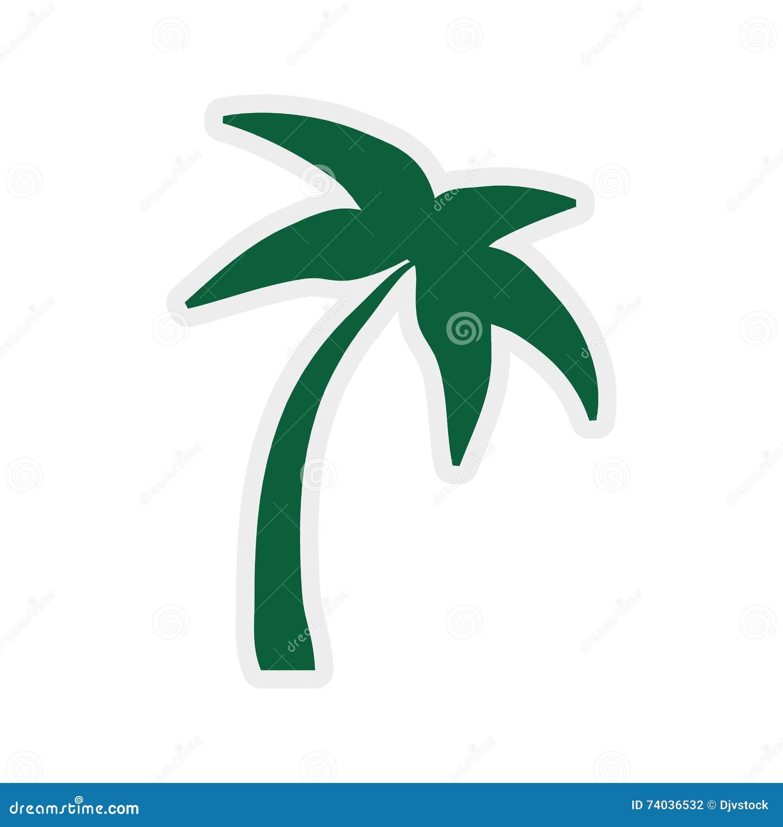 icône de palmier conception de plage dessin de vecteur