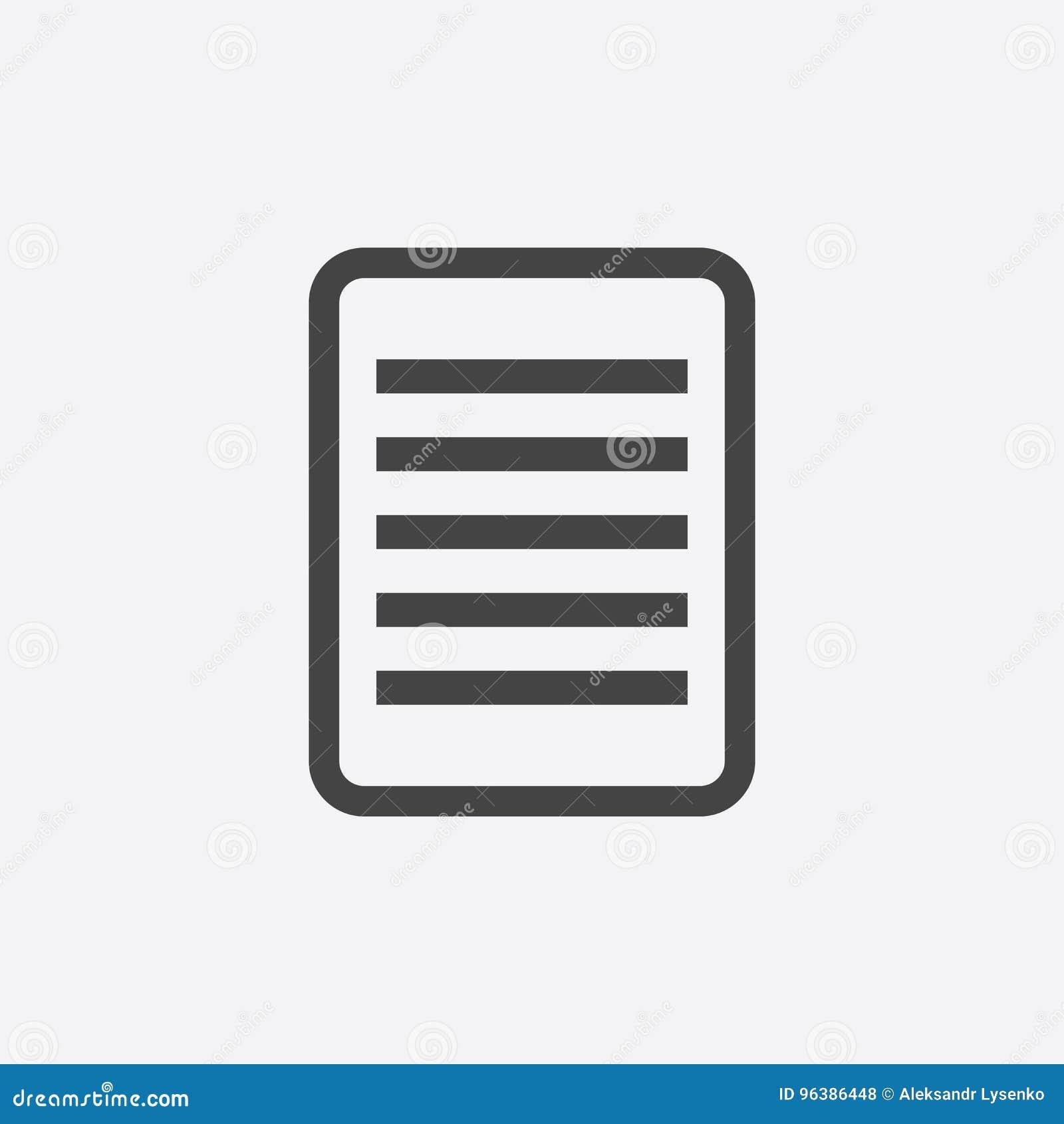 Icône de pictogramme de document Illustration plate simple pour des affaires,